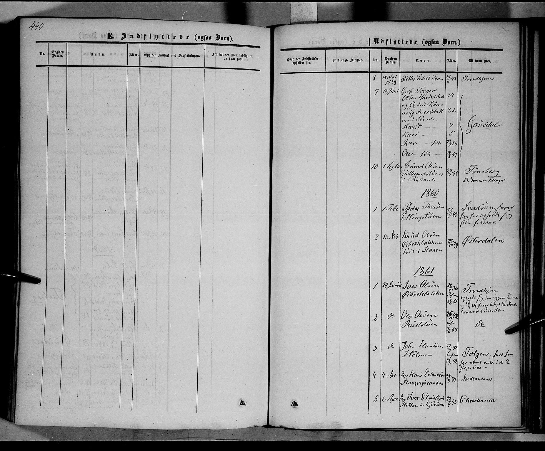 SAH, Nord-Fron prestekontor, Ministerialbok nr. 1, 1851-1864, s. 440