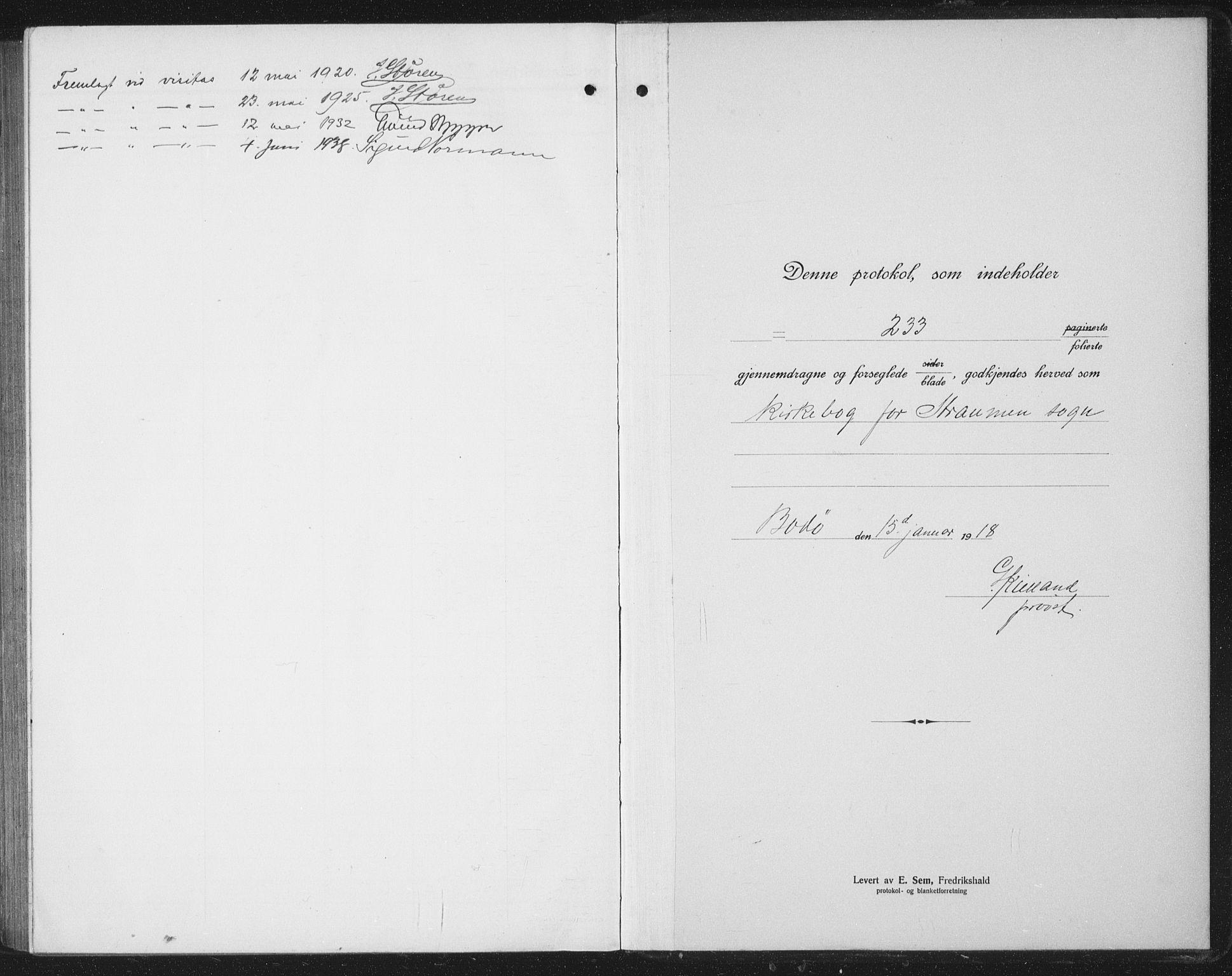 SAT, Ministerialprotokoller, klokkerbøker og fødselsregistre - Nordland, 804/L0089: Klokkerbok nr. 804C02, 1918-1935