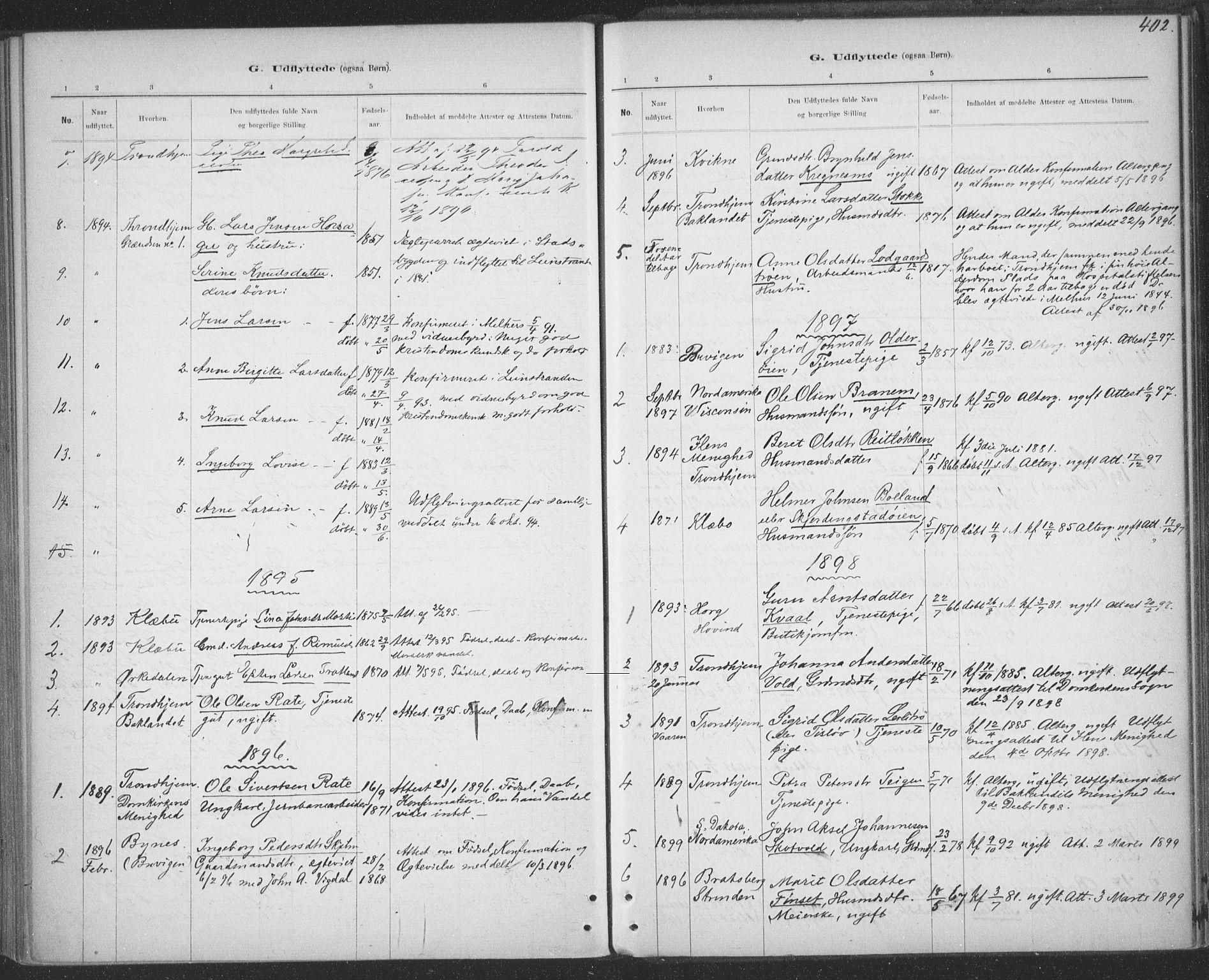 SAT, Ministerialprotokoller, klokkerbøker og fødselsregistre - Sør-Trøndelag, 691/L1085: Ministerialbok nr. 691A17, 1887-1908, s. 402