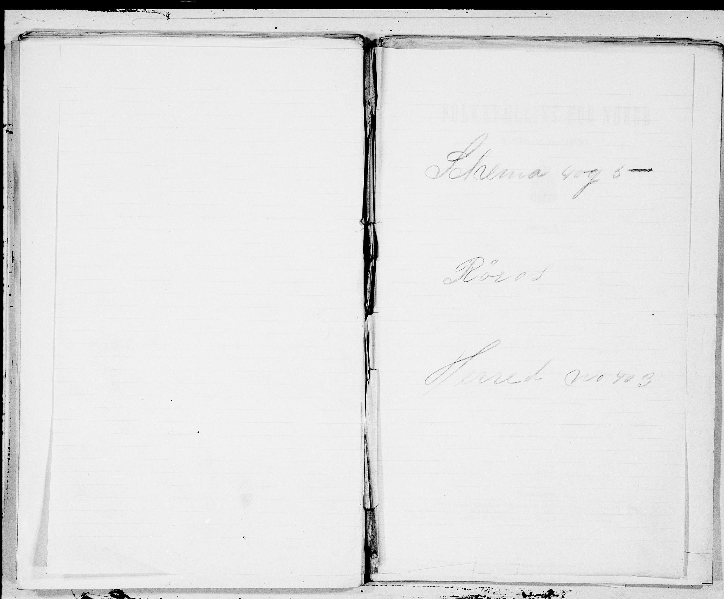 SAT, Folketelling 1900 for 1640 Røros herred, 1900, s. 1