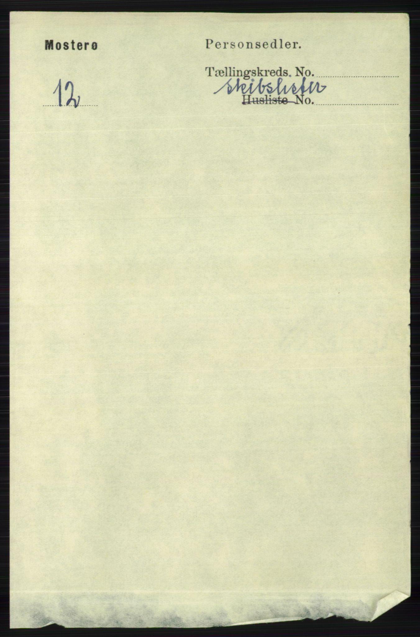 RA, Folketelling 1891 for 1143 Mosterøy herred, 1891, s. 1489