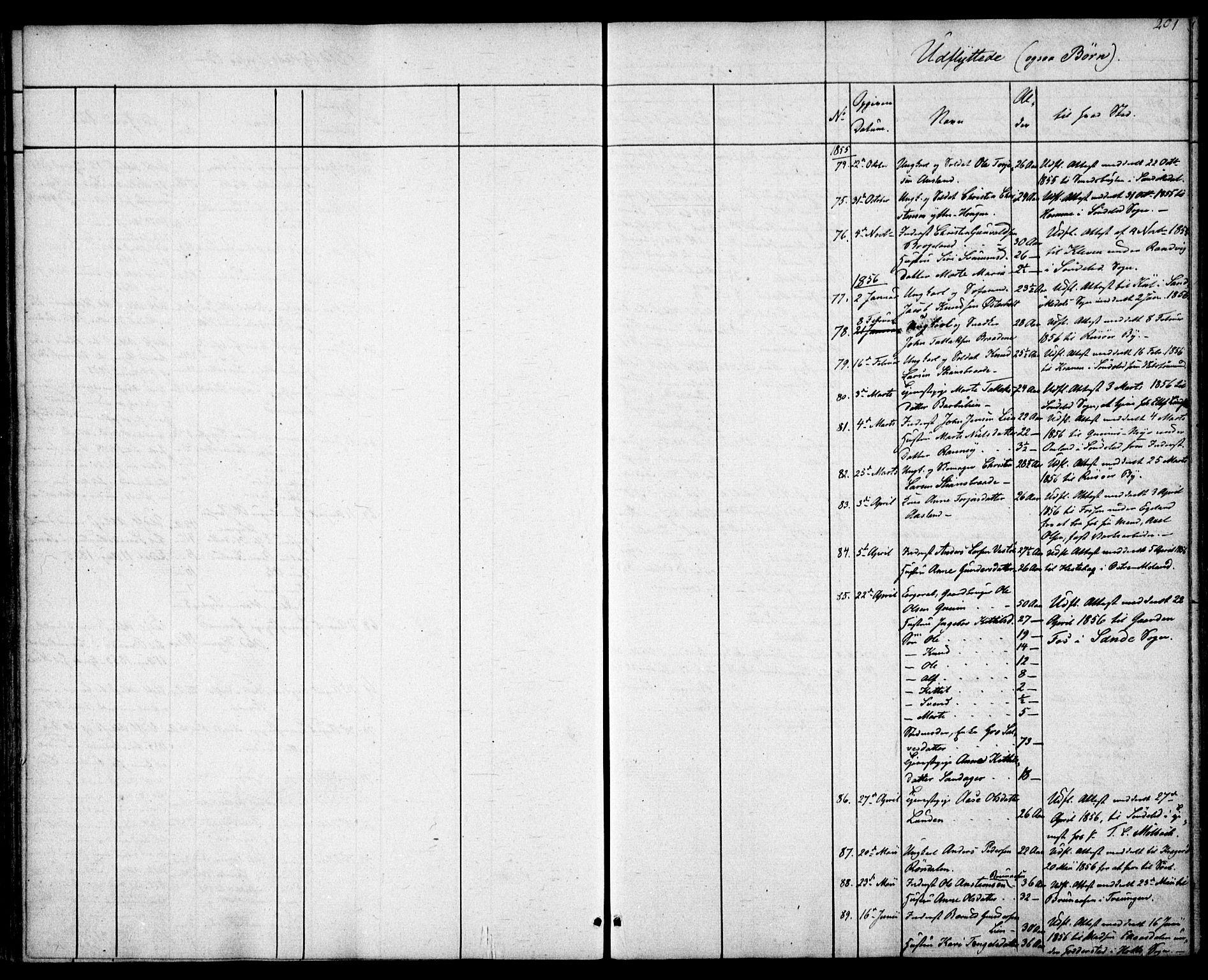 SAK, Gjerstad sokneprestkontor, F/Fa/Faa/L0006: Ministerialbok nr. A 6, 1841-1857, s. 201