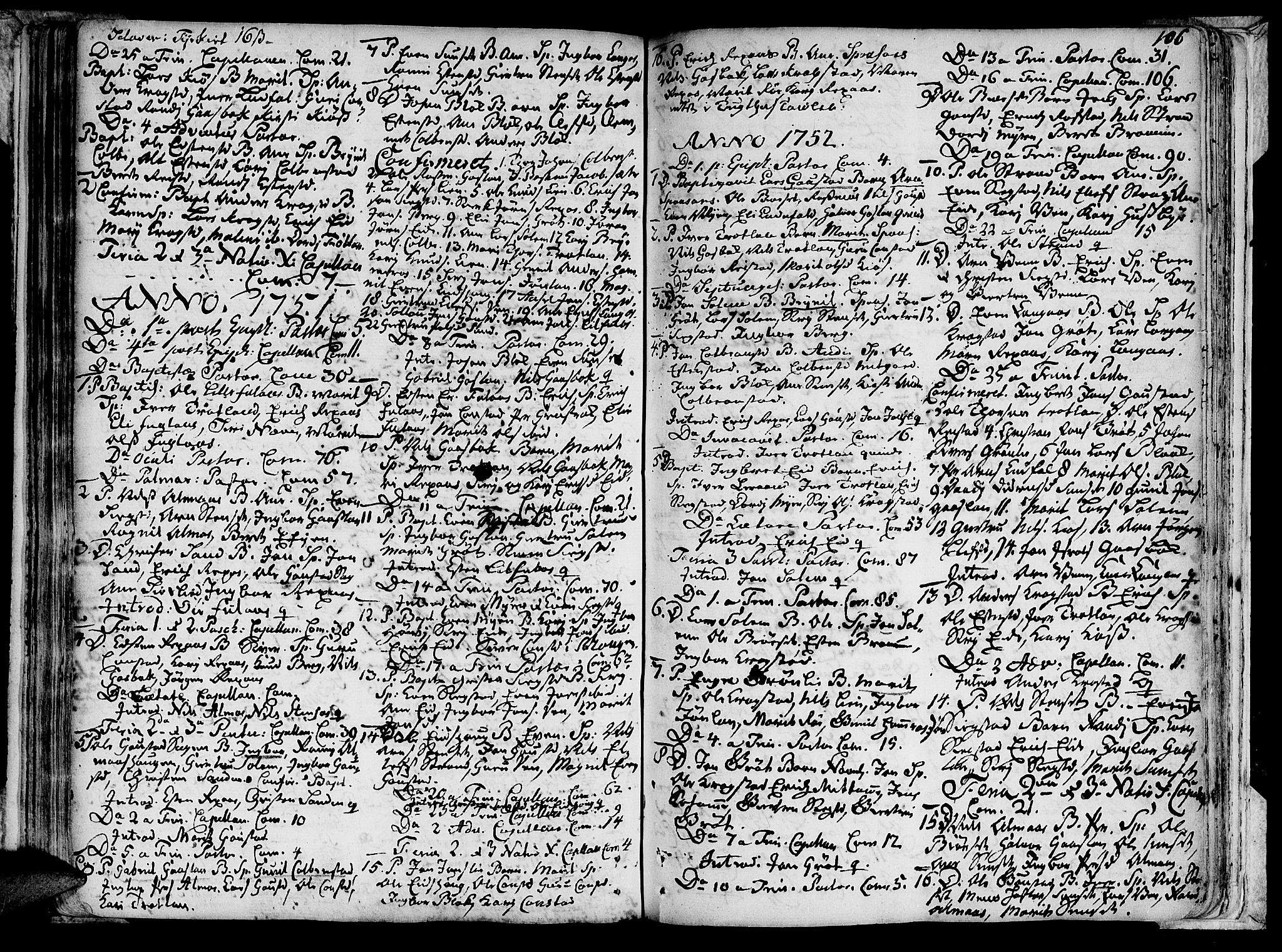 SAT, Ministerialprotokoller, klokkerbøker og fødselsregistre - Sør-Trøndelag, 691/L1060: Ministerialbok nr. 691A01 /4, 1740-1767, s. 106