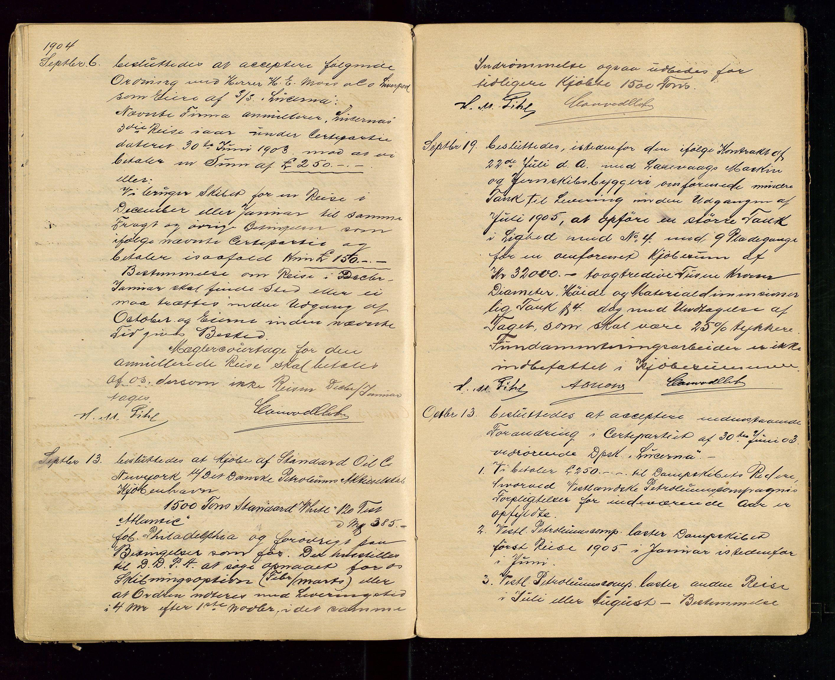 SAST, PA 1533 - A/S Vestlandske Petroleumscompani, A/Aa/L0001: Generalforsamlinger og styreprotokoller, 1890-1907, s. 54