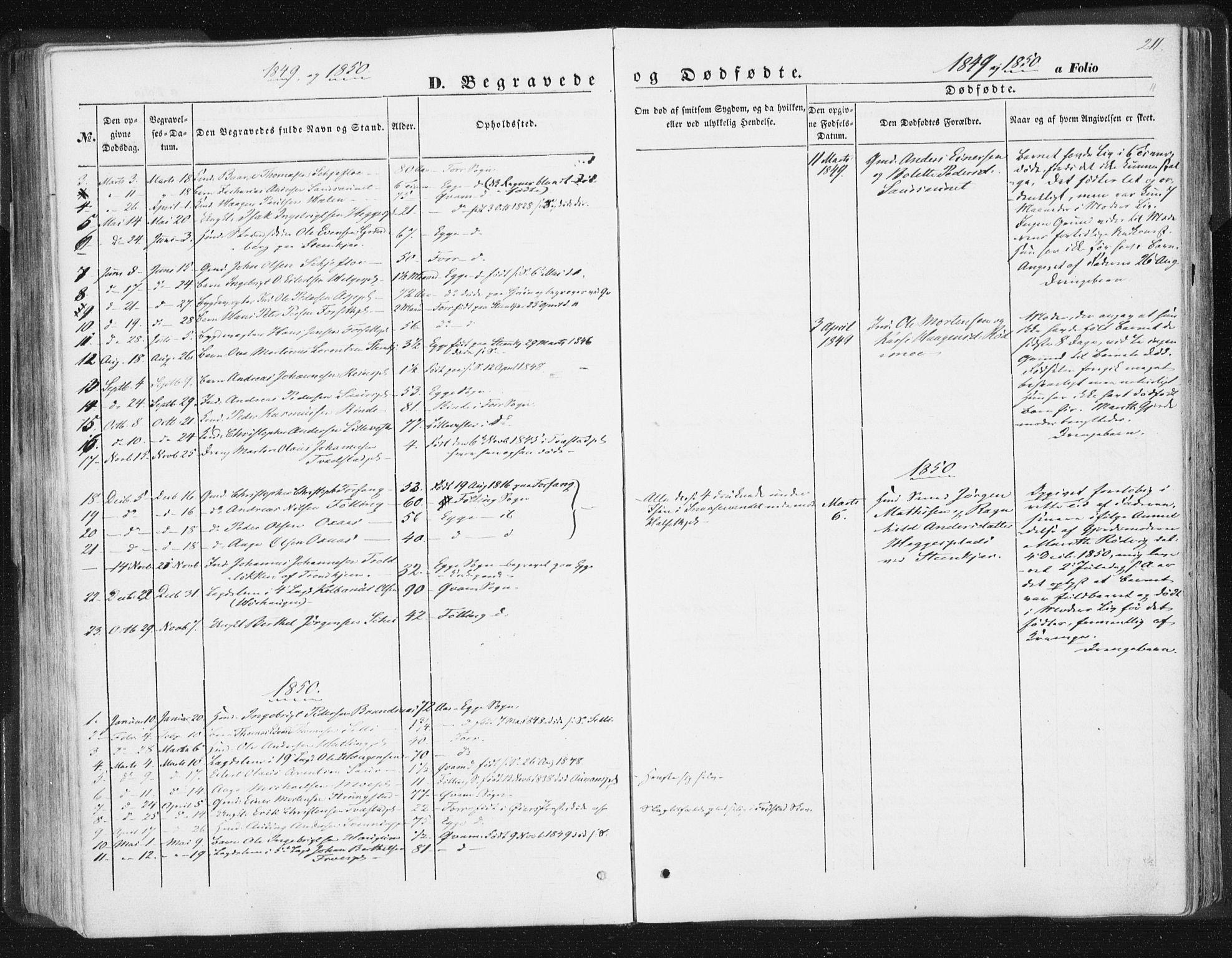 SAT, Ministerialprotokoller, klokkerbøker og fødselsregistre - Nord-Trøndelag, 746/L0446: Ministerialbok nr. 746A05, 1846-1859, s. 211