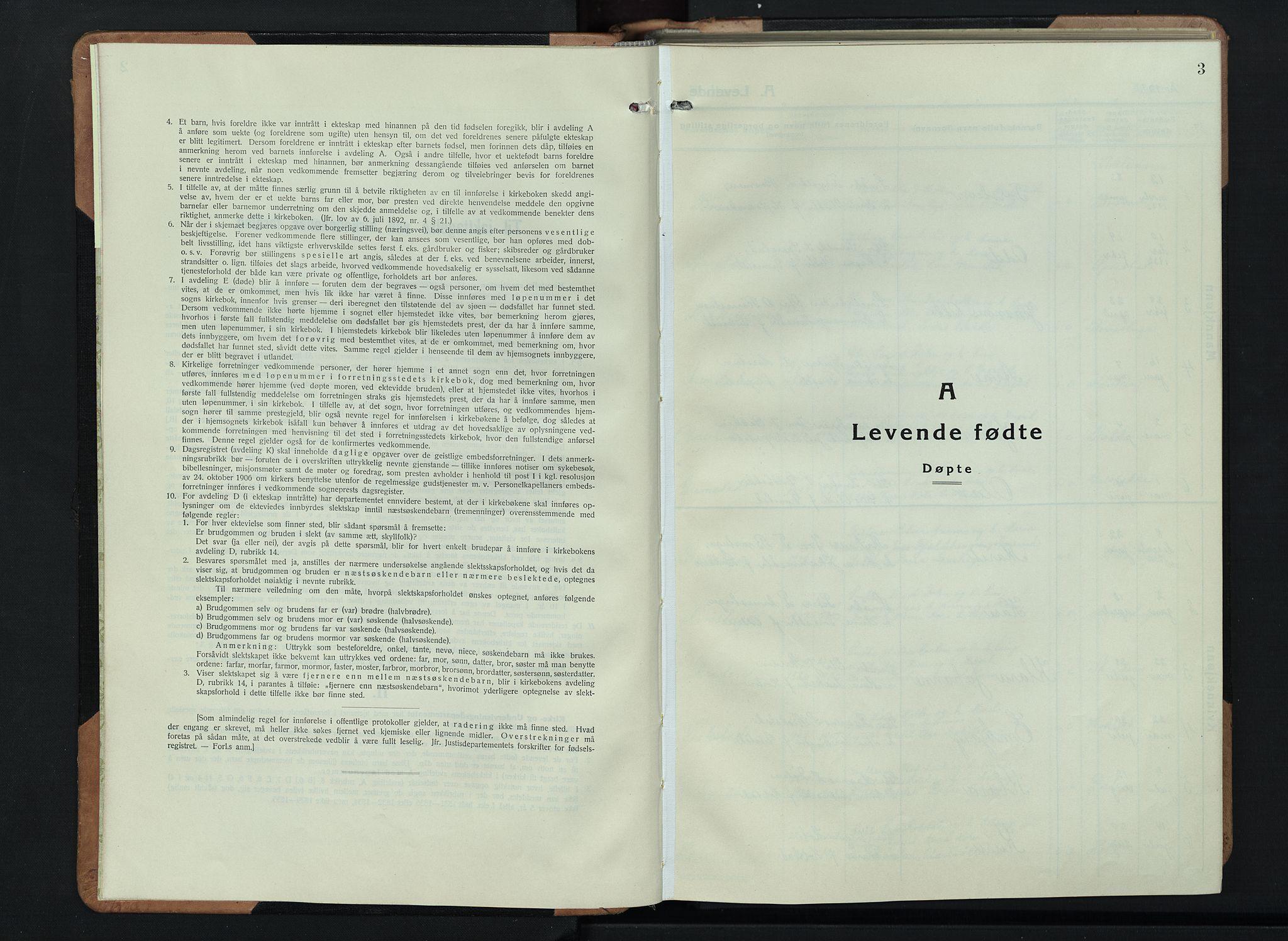 SAH, Skjåk prestekontor, Klokkerbok nr. 6, 1933-1954, s. 3