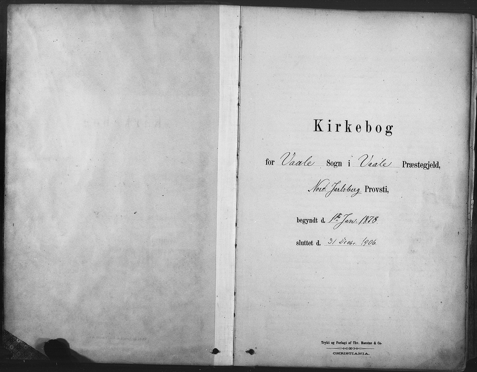 SAKO, Våle kirkebøker, F/Fa/L0011: Ministerialbok nr. I 11, 1878-1906