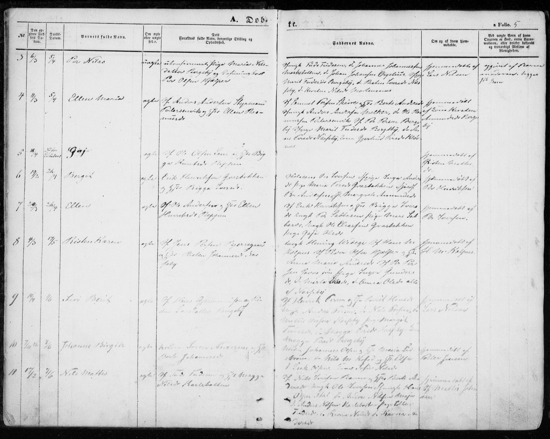 SATØ, Nesseby sokneprestkontor, H/Ha/L0002kirke: Ministerialbok nr. 2, 1856-1864, s. 5