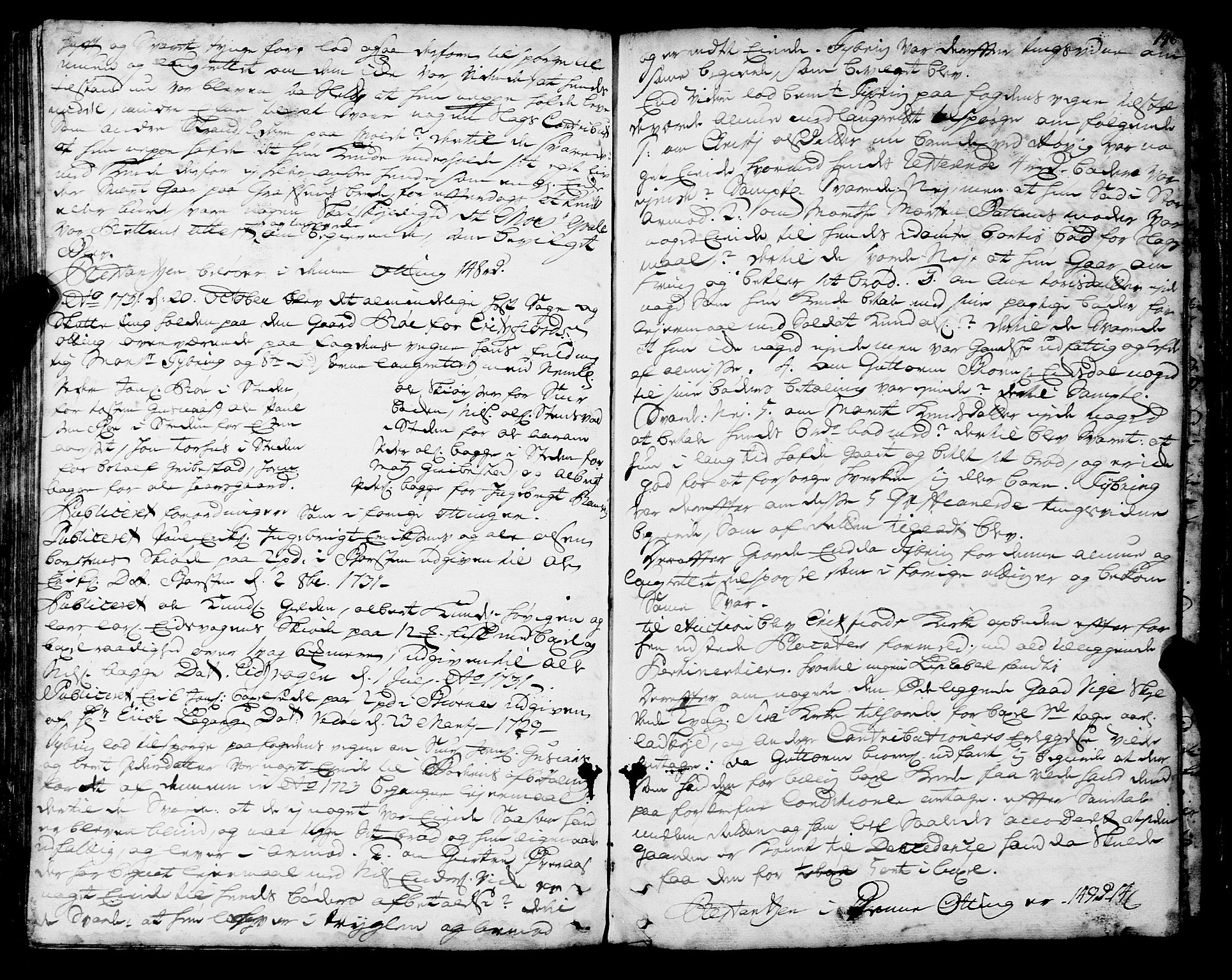 SAT, Romsdal sorenskriveri, 1/1A/L0010: Tingbok, 1728-1732, s. 146