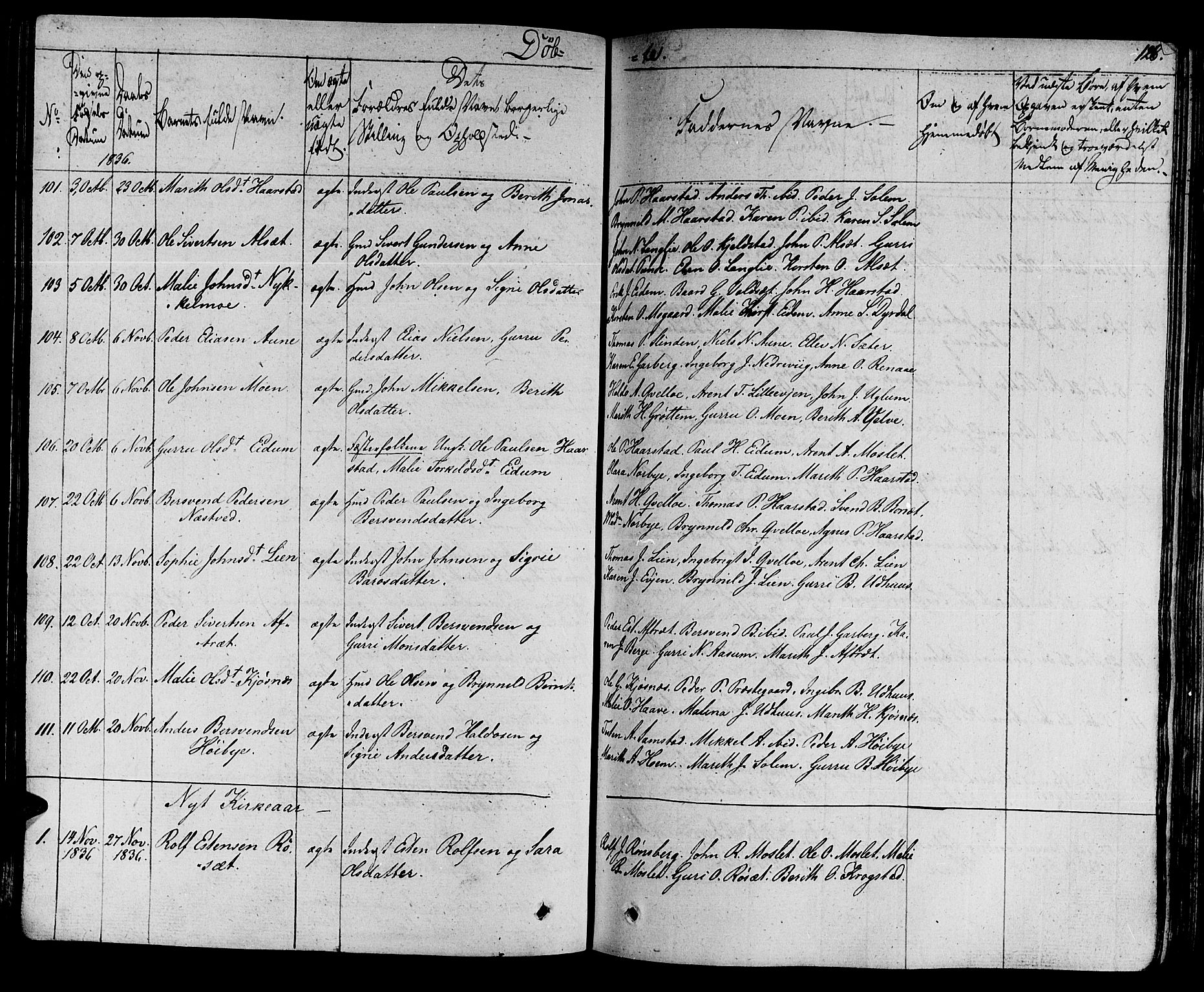 SAT, Ministerialprotokoller, klokkerbøker og fødselsregistre - Sør-Trøndelag, 695/L1143: Ministerialbok nr. 695A05 /1, 1824-1842, s. 126