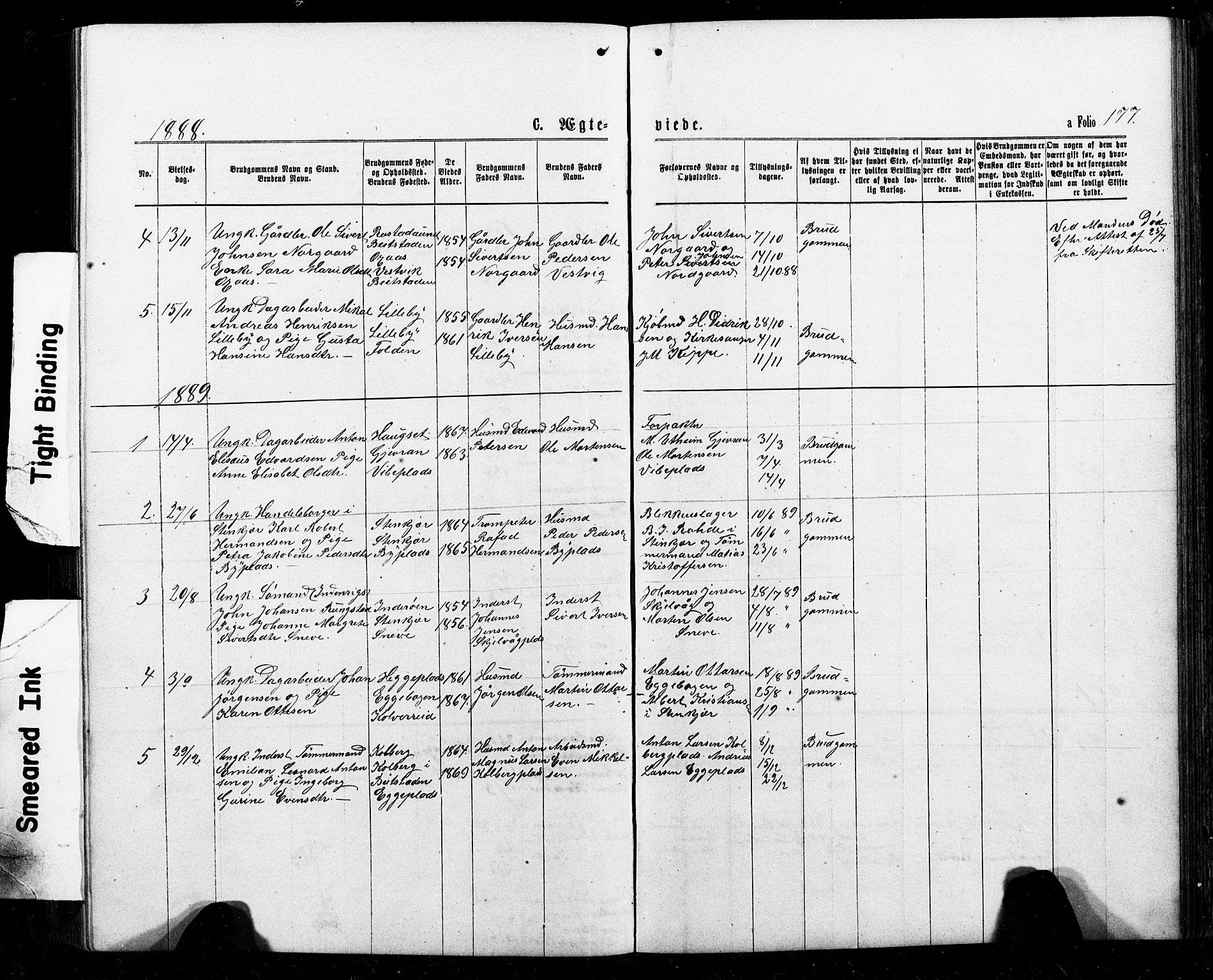 SAT, Ministerialprotokoller, klokkerbøker og fødselsregistre - Nord-Trøndelag, 740/L0380: Klokkerbok nr. 740C01, 1868-1902, s. 177