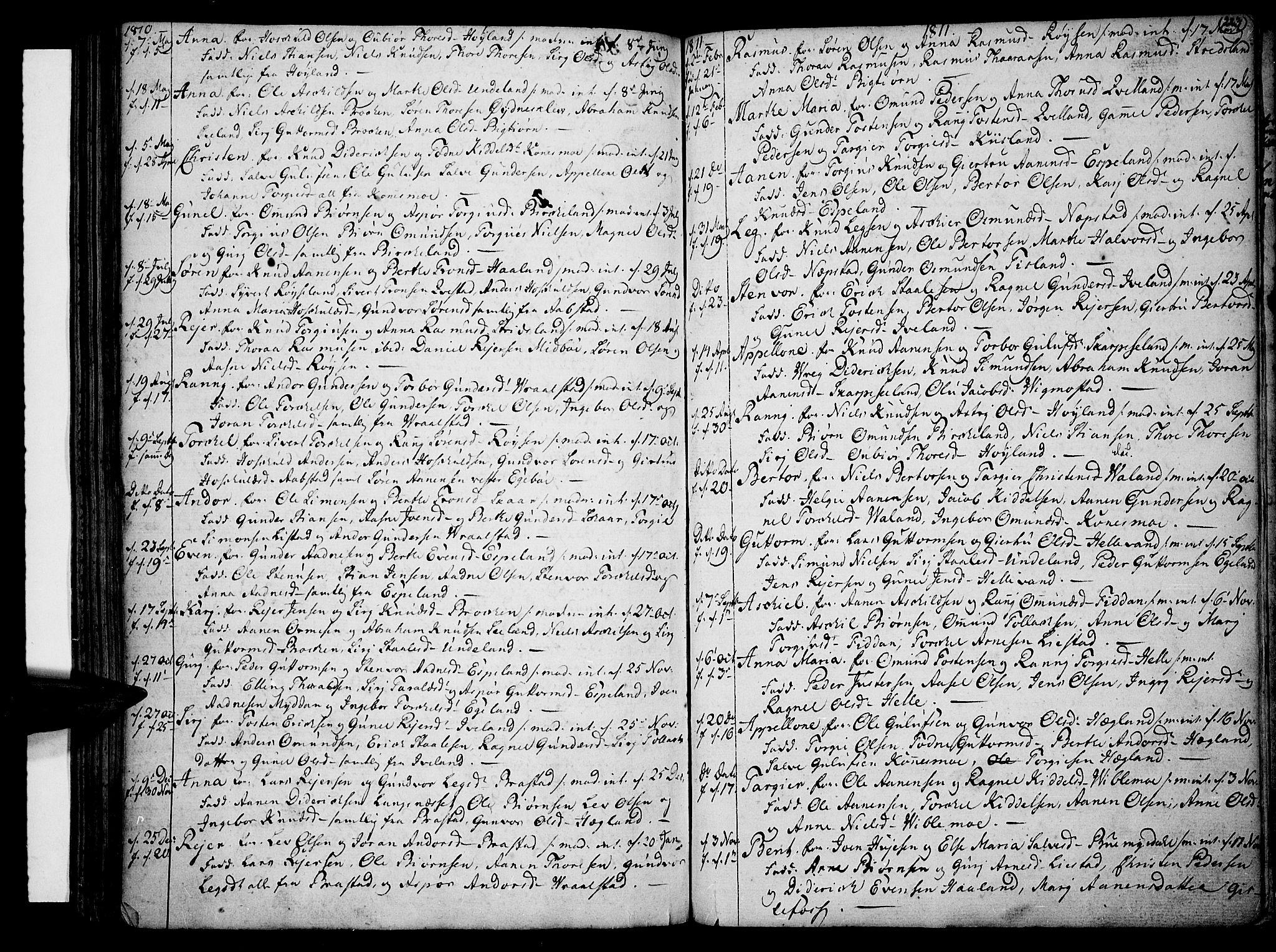 SAK, Sør-Audnedal sokneprestkontor, F/Fa/Fab/L0002: Ministerialbok nr. A 2 /4, 1768-1814, s. 223