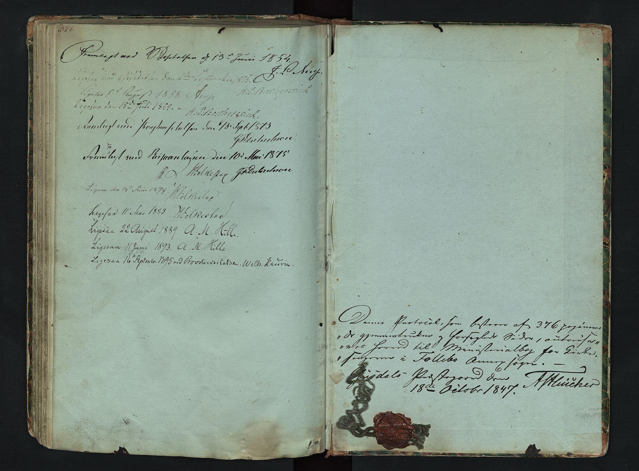 SAH, Gausdal prestekontor, Klokkerbok nr. 6, 1846-1893, s. 376-377