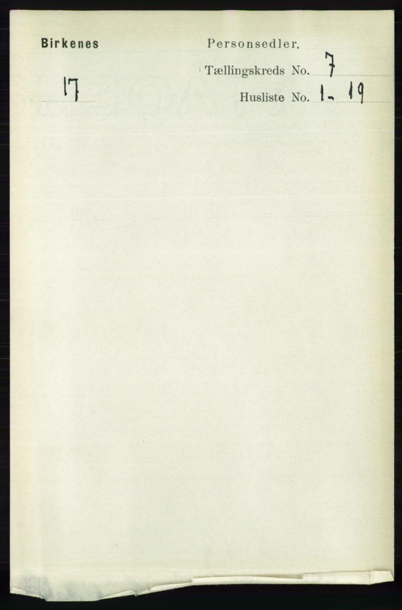 RA, Folketelling 1891 for 0928 Birkenes herred, 1891, s. 1983