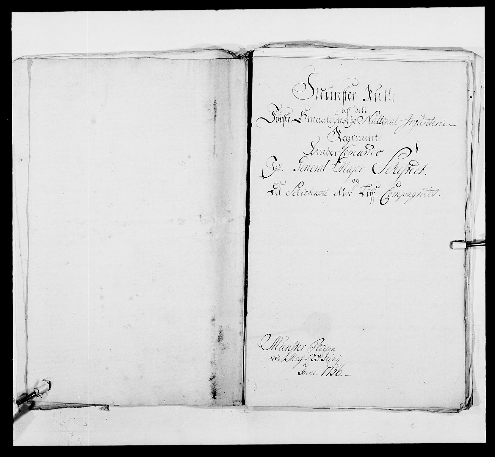 RA, Kommanderende general (KG I) med Det norske krigsdirektorium, E/Ea/L0495: 1. Smålenske regiment, 1732-1763, s. 599
