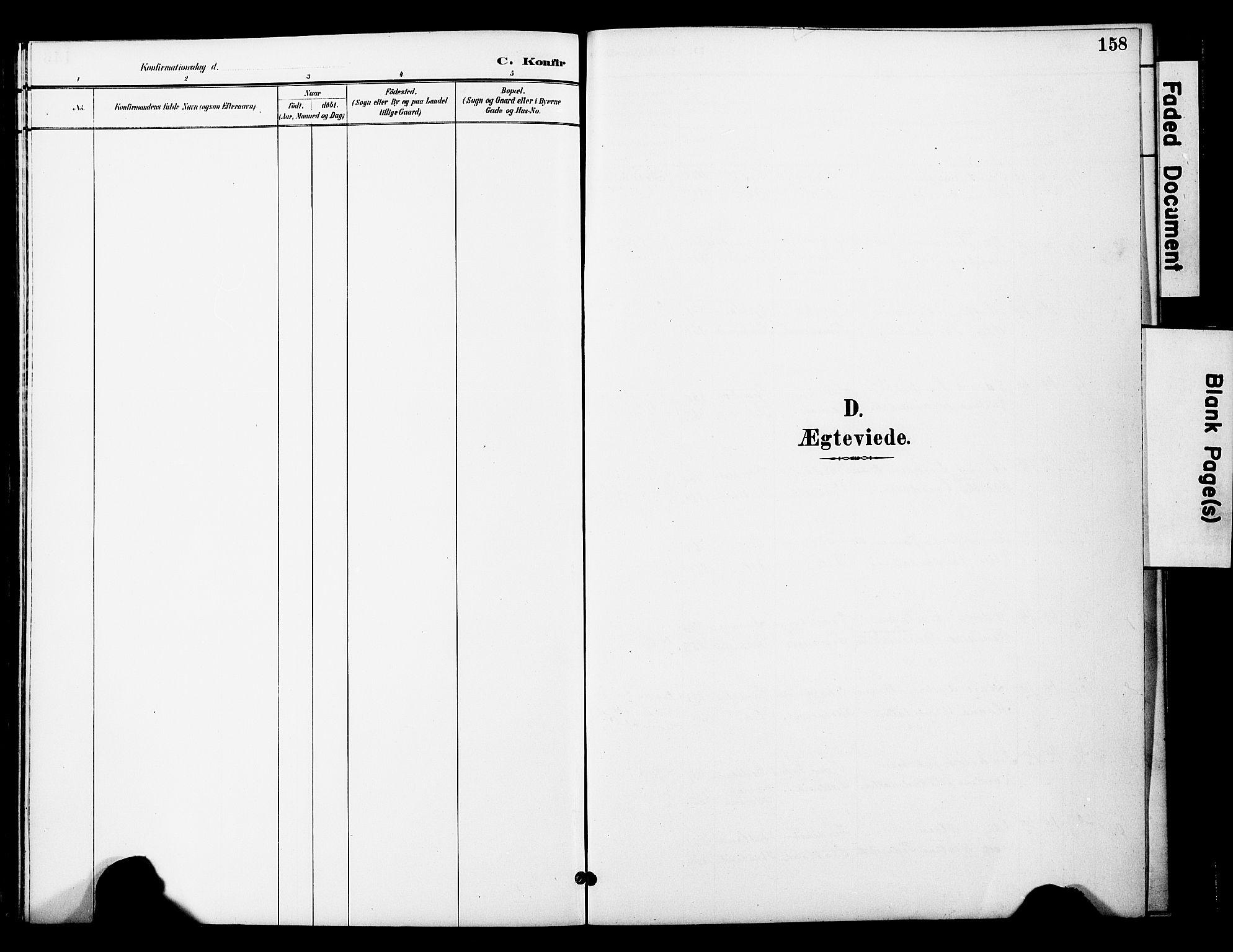 SAT, Ministerialprotokoller, klokkerbøker og fødselsregistre - Nord-Trøndelag, 774/L0628: Ministerialbok nr. 774A02, 1887-1903, s. 158