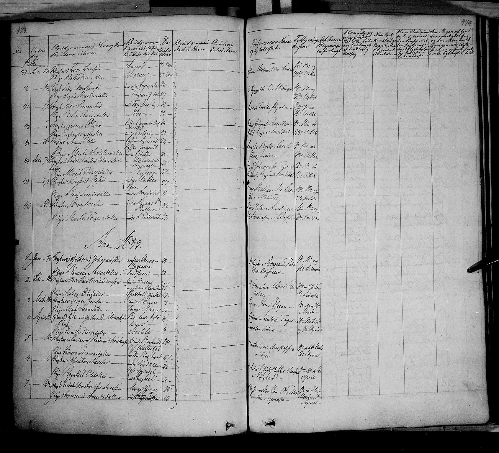 SAH, Fåberg prestekontor, Ministerialbok nr. 5, 1836-1854, s. 473-474