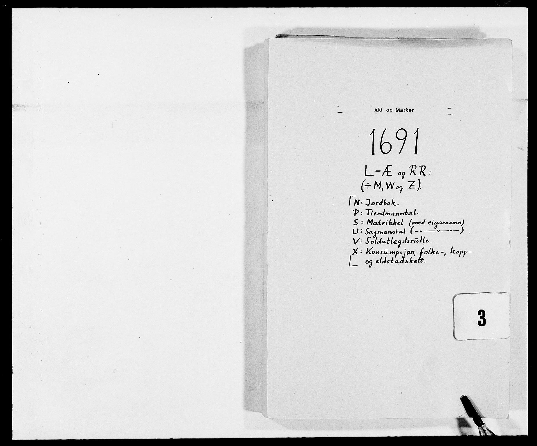 RA, Rentekammeret inntil 1814, Reviderte regnskaper, Fogderegnskap, R01/L0010: Fogderegnskap Idd og Marker, 1690-1691, s. 294