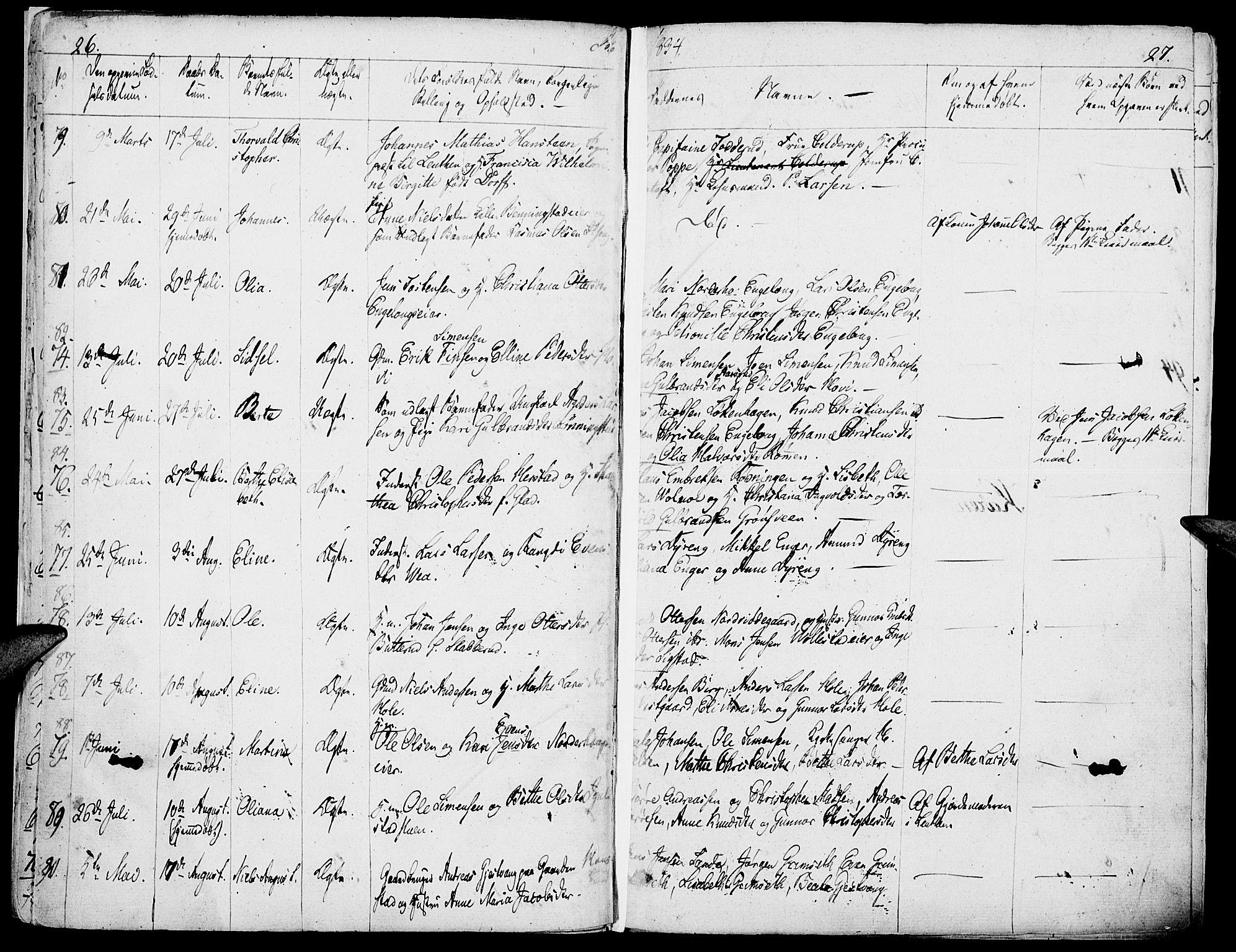 SAH, Løten prestekontor, K/Ka/L0006: Ministerialbok nr. 6, 1832-1849, s. 26-27