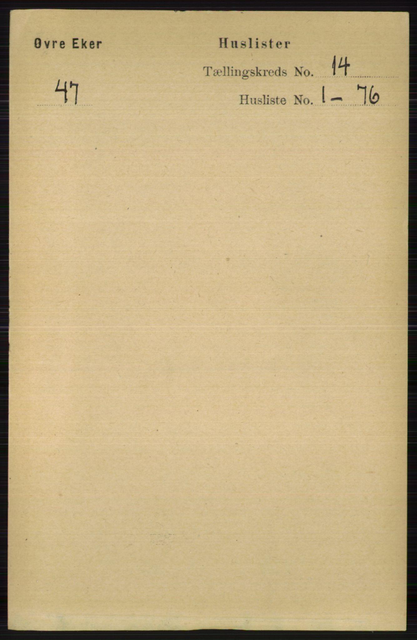 RA, Folketelling 1891 for 0624 Øvre Eiker herred, 1891, s. 6375