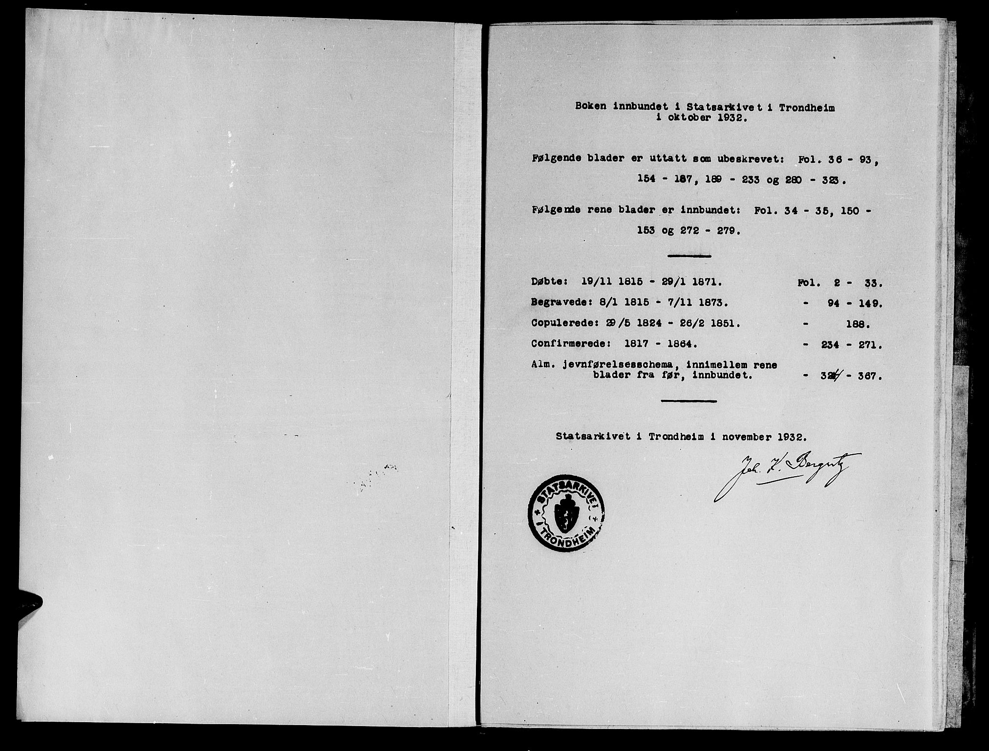SAT, Ministerialprotokoller, klokkerbøker og fødselsregistre - Sør-Trøndelag, 623/L0478: Klokkerbok nr. 623C01, 1815-1873
