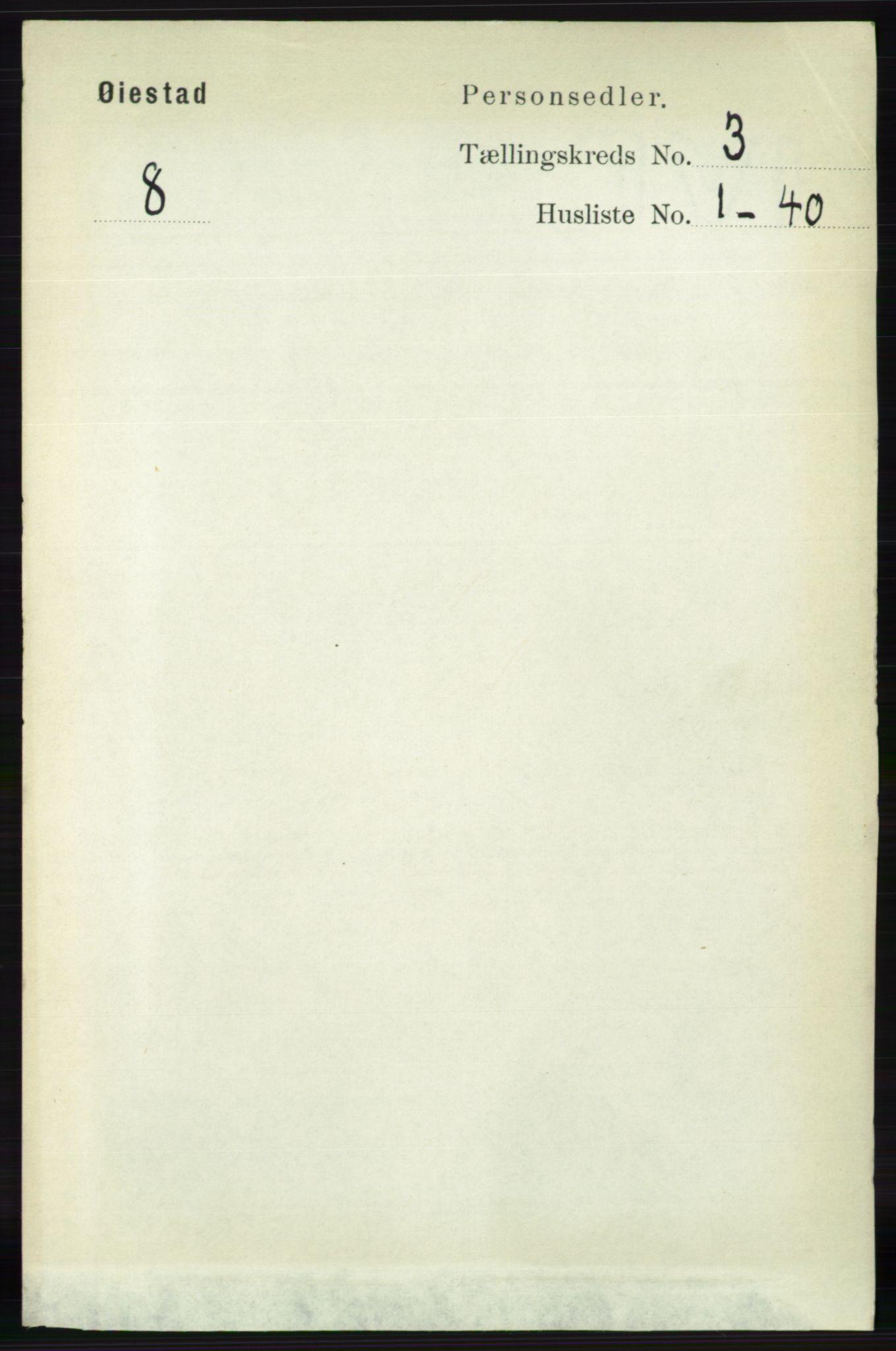 RA, Folketelling 1891 for 0920 Øyestad herred, 1891, s. 907