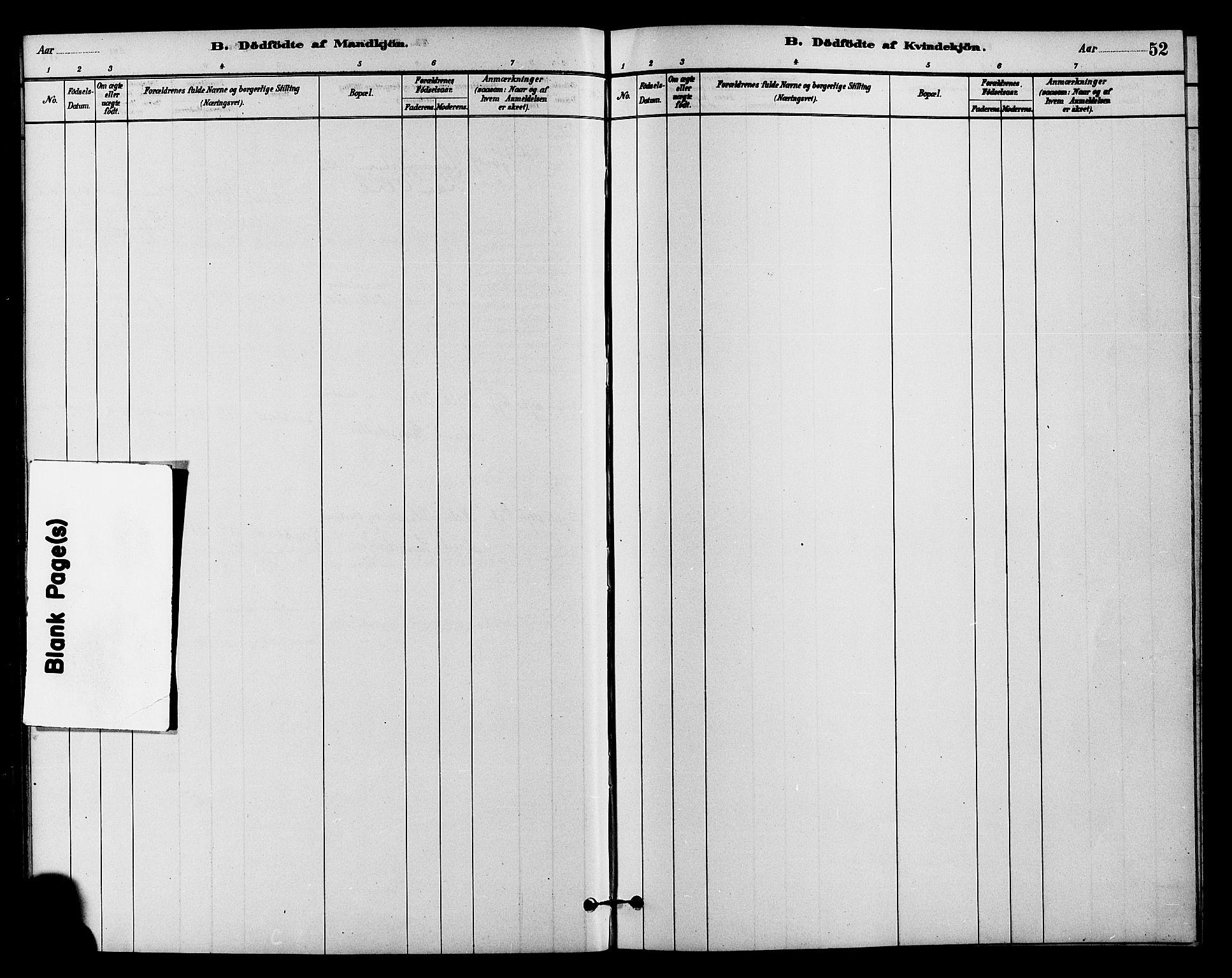 SAH, Vestre Slidre prestekontor, Klokkerbok nr. 4, 1881-1912, s. 52