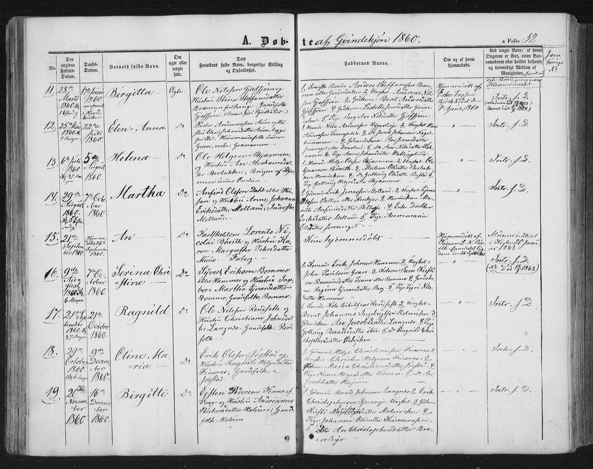 SAT, Ministerialprotokoller, klokkerbøker og fødselsregistre - Nord-Trøndelag, 749/L0472: Ministerialbok nr. 749A06, 1857-1873, s. 52