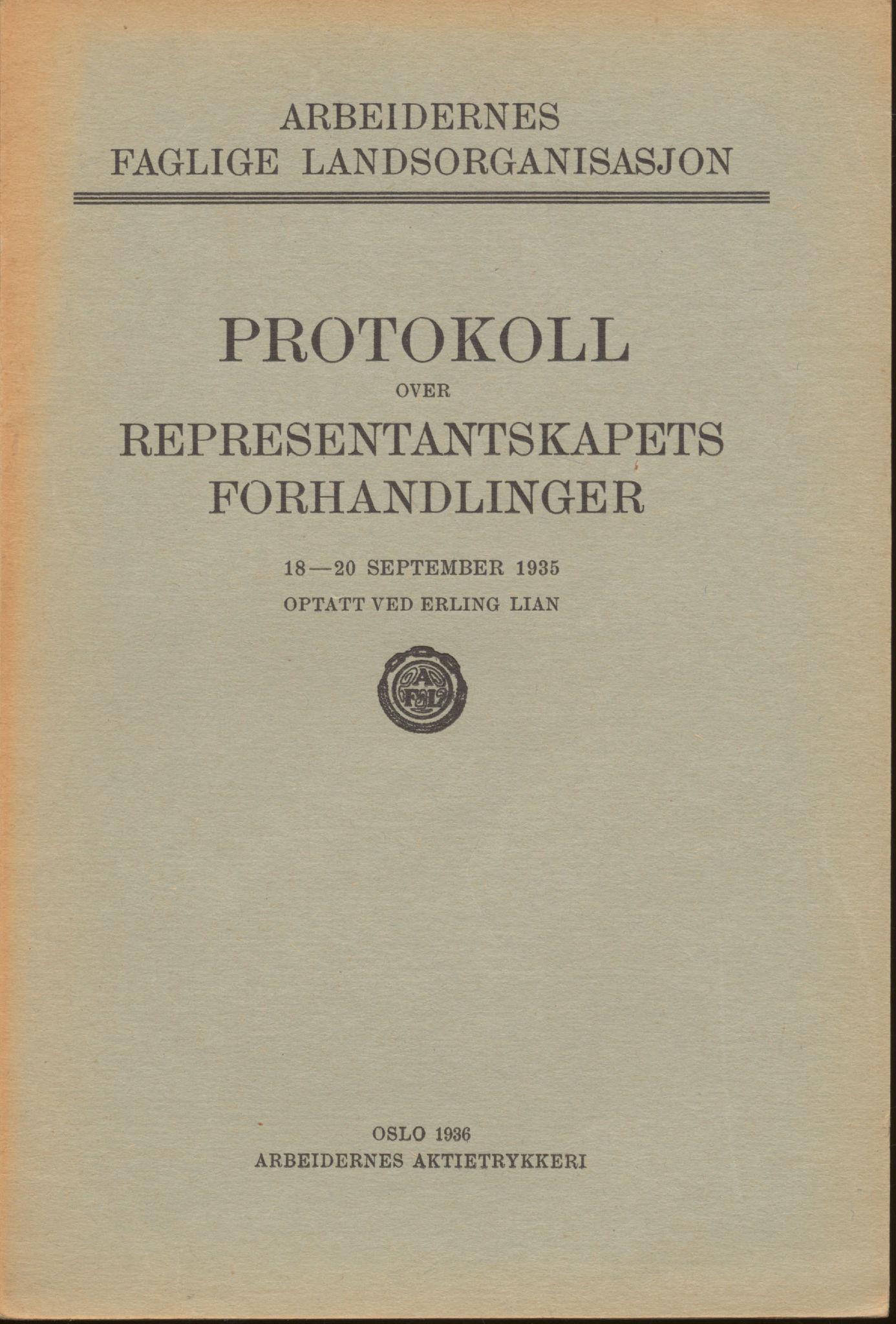 AAB, Landsorganisasjonen i Norge, 1911-1953, s. 153