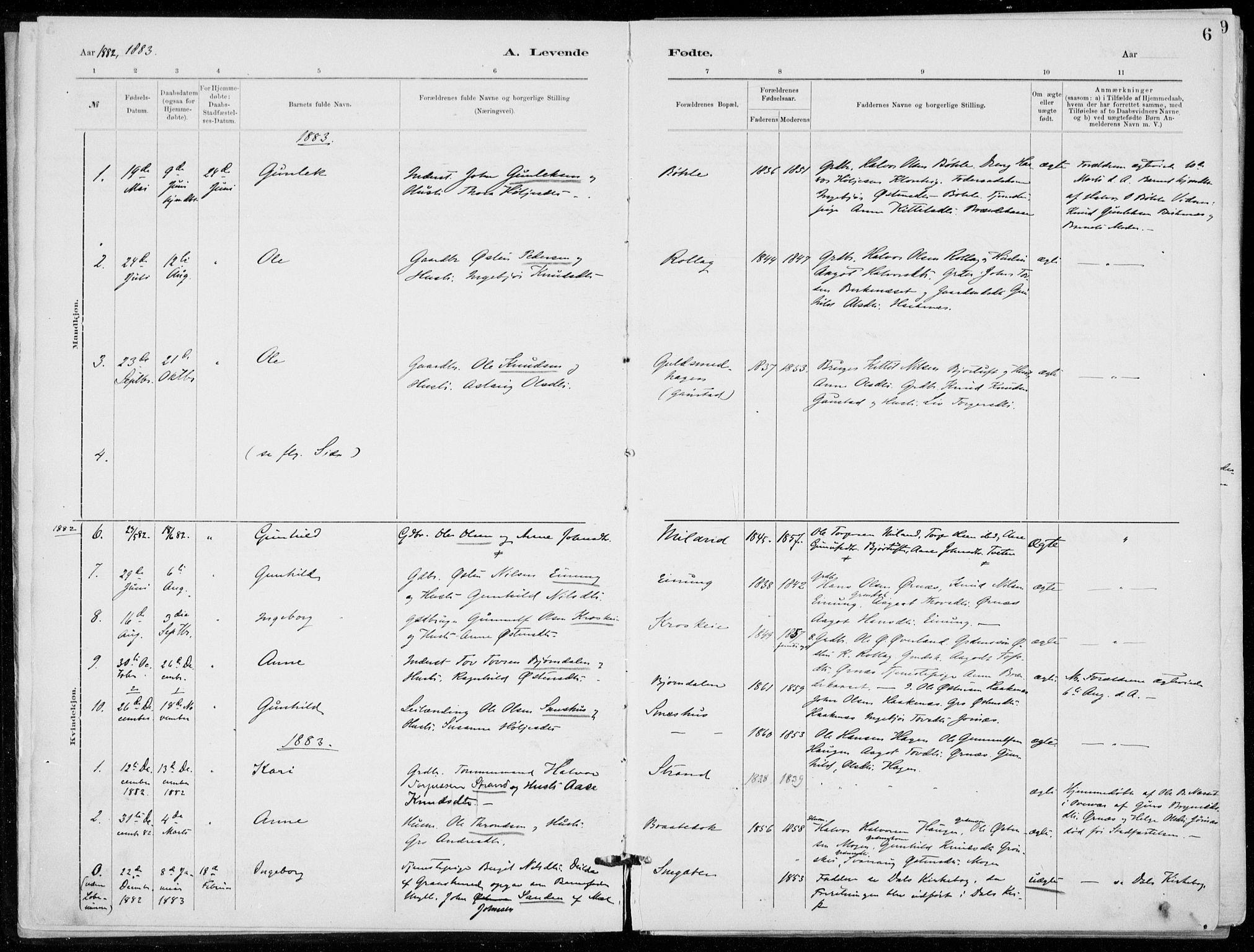 SAKO, Tinn kirkebøker, F/Fb/L0002: Ministerialbok nr. II 2, 1878-1917, s. 6