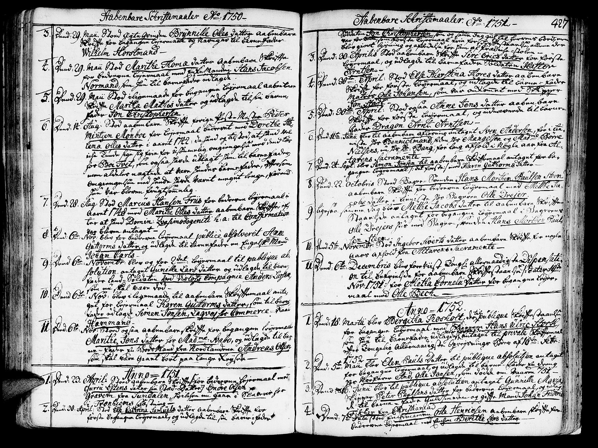 SAT, Ministerialprotokoller, klokkerbøker og fødselsregistre - Sør-Trøndelag, 602/L0103: Ministerialbok nr. 602A01, 1732-1774, s. 427
