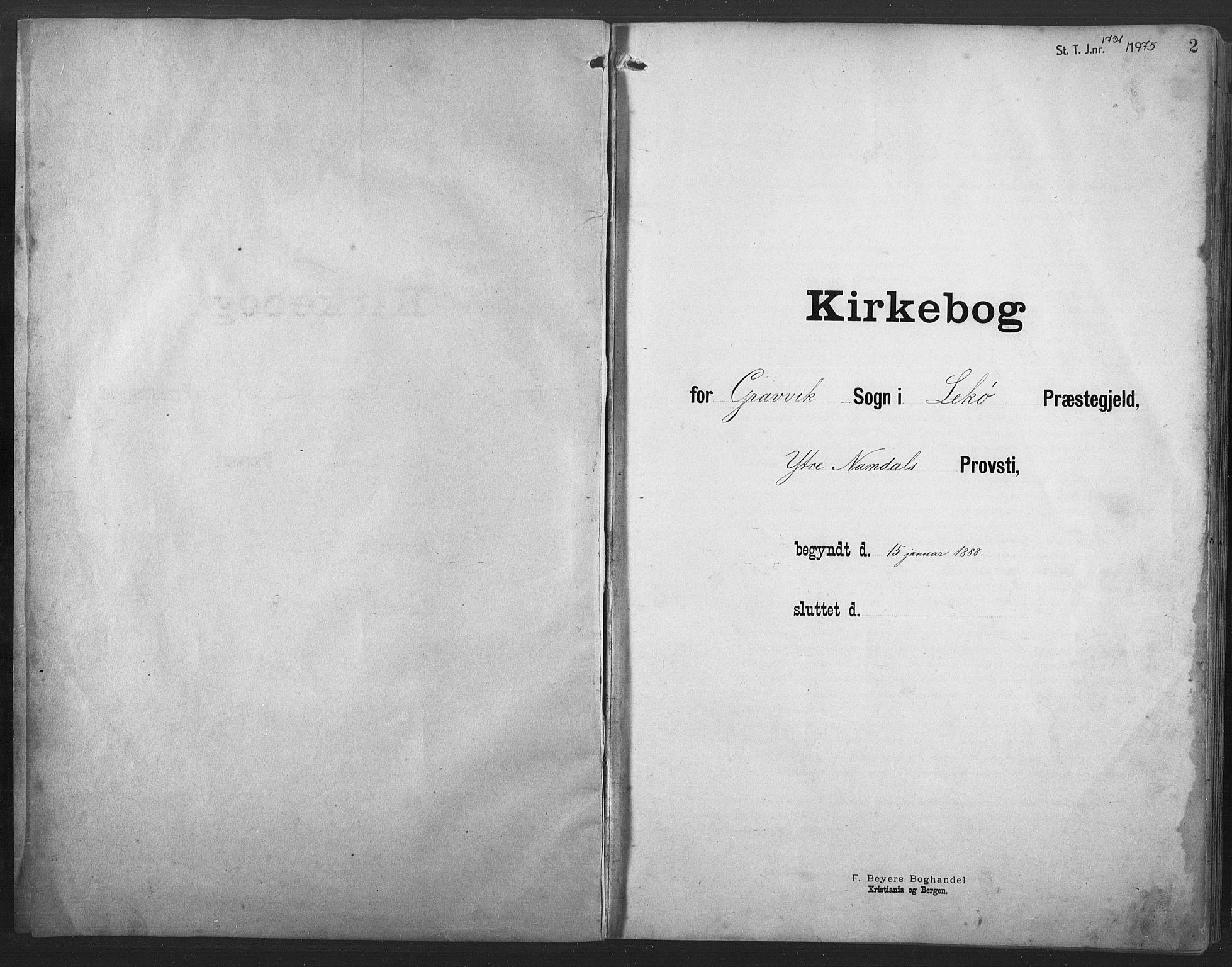 SAT, Ministerialprotokoller, klokkerbøker og fødselsregistre - Nord-Trøndelag, 789/L0706: Klokkerbok nr. 789C01, 1888-1931, s. 2