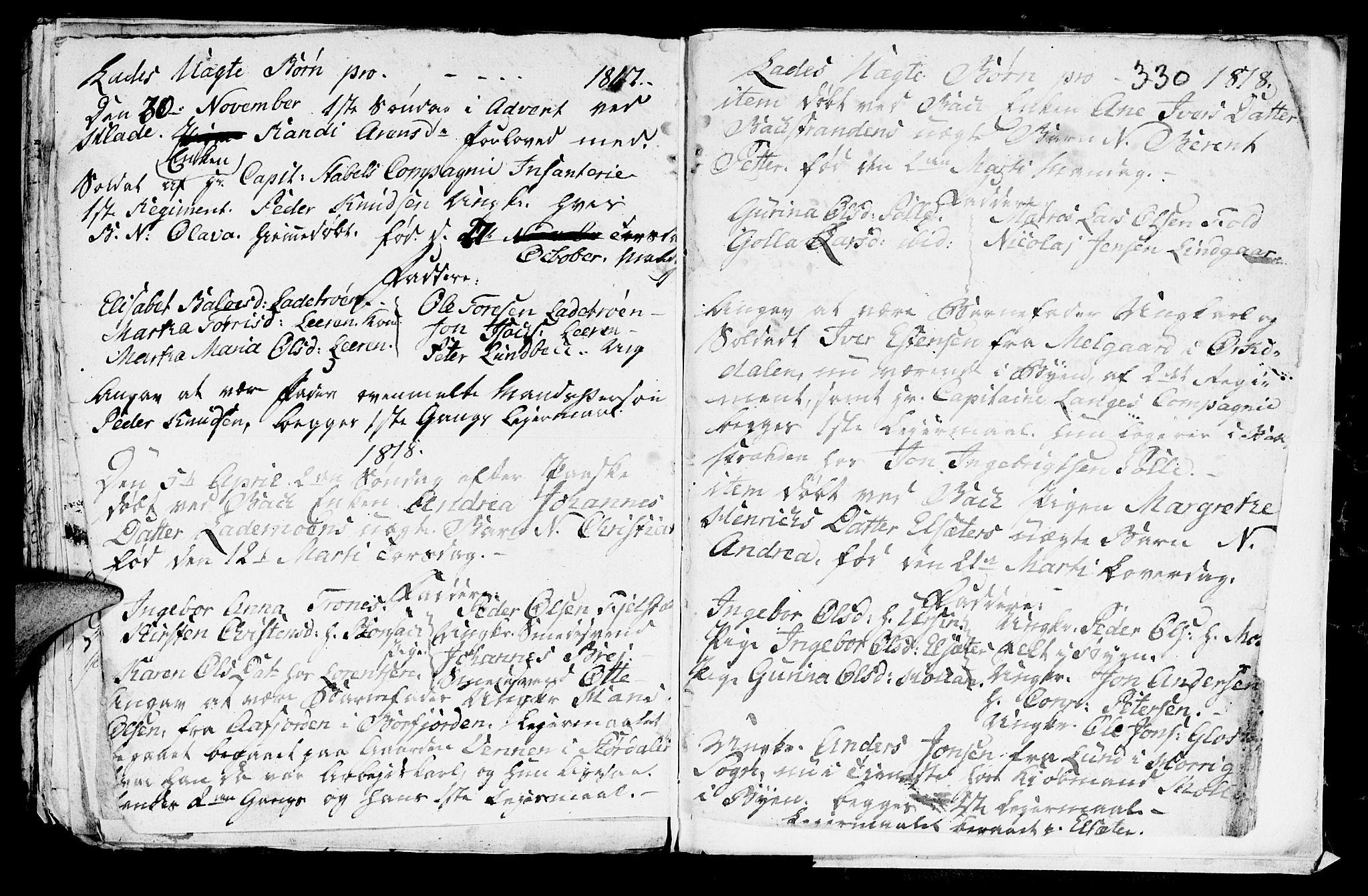 SAT, Ministerialprotokoller, klokkerbøker og fødselsregistre - Sør-Trøndelag, 606/L0305: Klokkerbok nr. 606C01, 1757-1819, s. 330