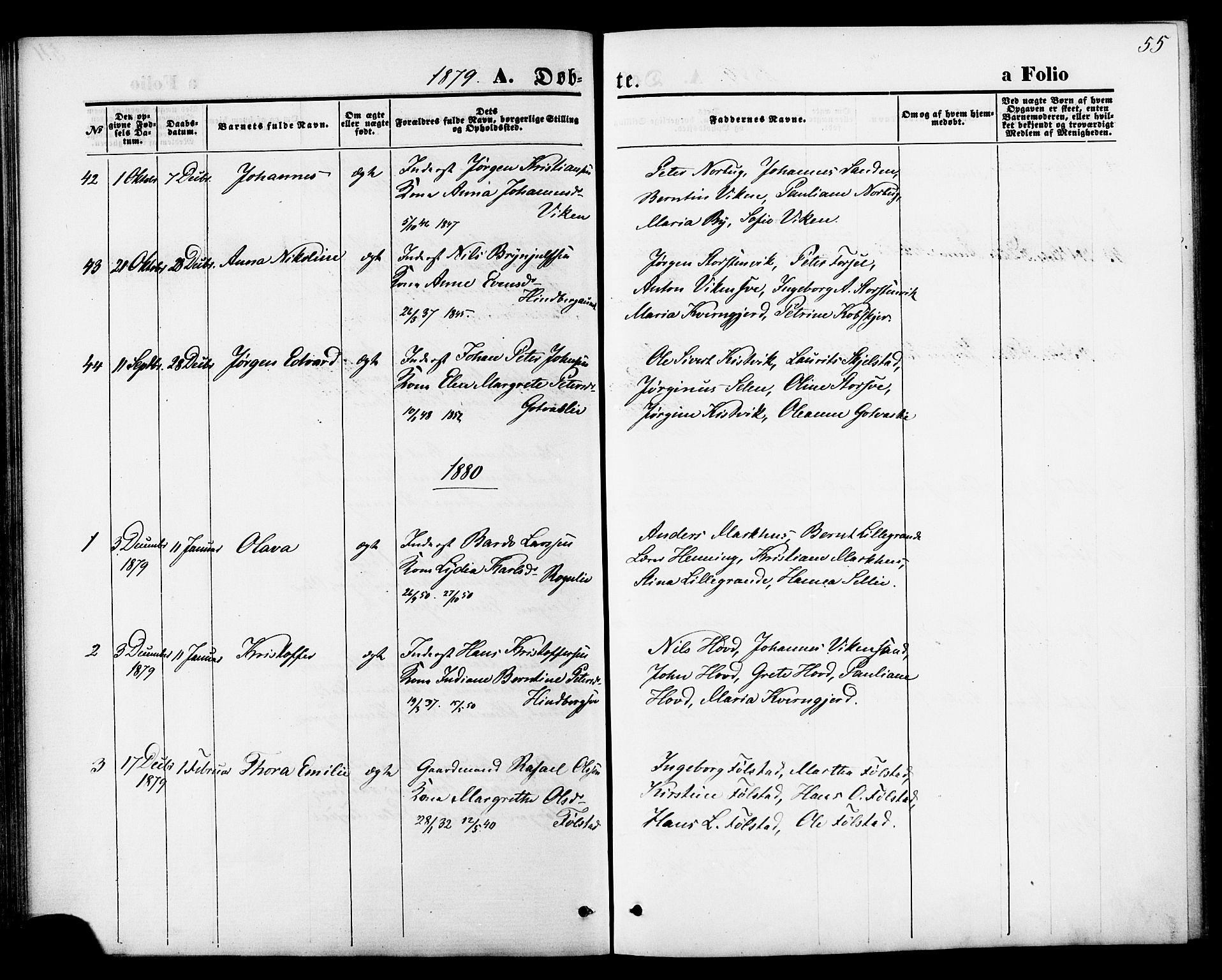 SAT, Ministerialprotokoller, klokkerbøker og fødselsregistre - Nord-Trøndelag, 744/L0419: Ministerialbok nr. 744A03, 1867-1881, s. 55