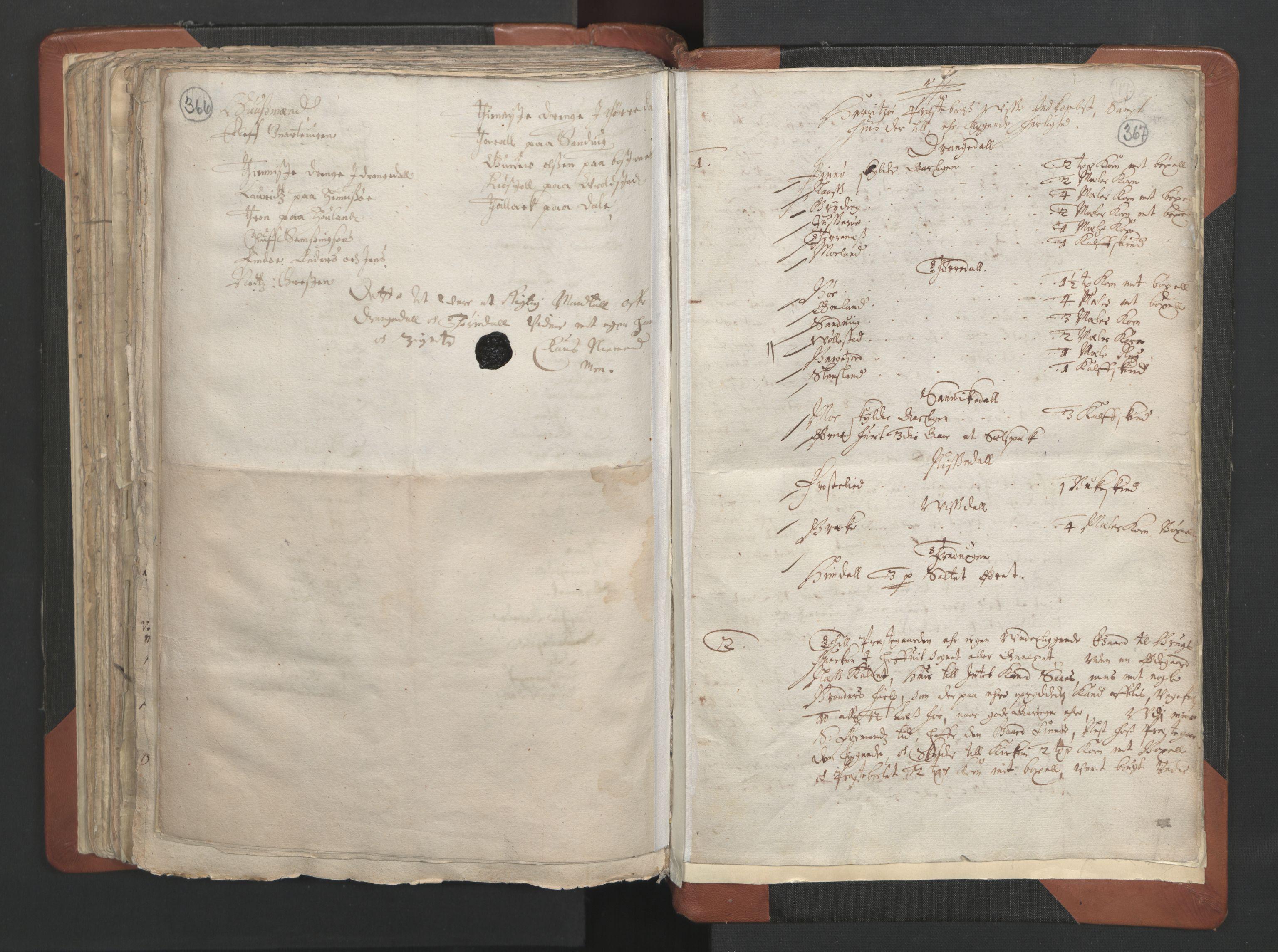 RA, Sogneprestenes manntall 1664-1666, nr. 12: Øvre Telemark prosti, Nedre Telemark prosti og Bamble prosti, 1664-1666, s. 366-367