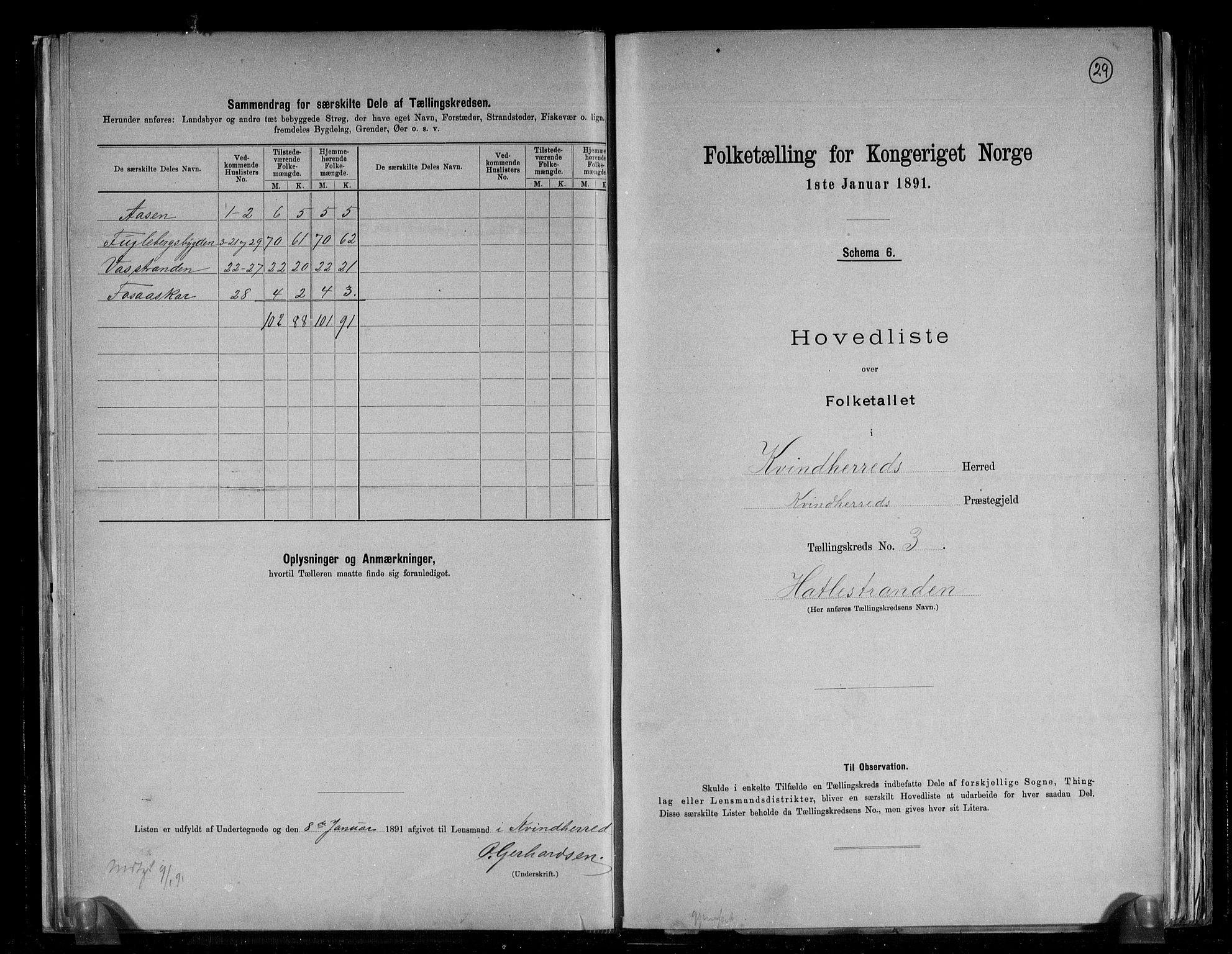 RA, Folketelling 1891 for 1224 Kvinnherad herred, 1891, s. 9