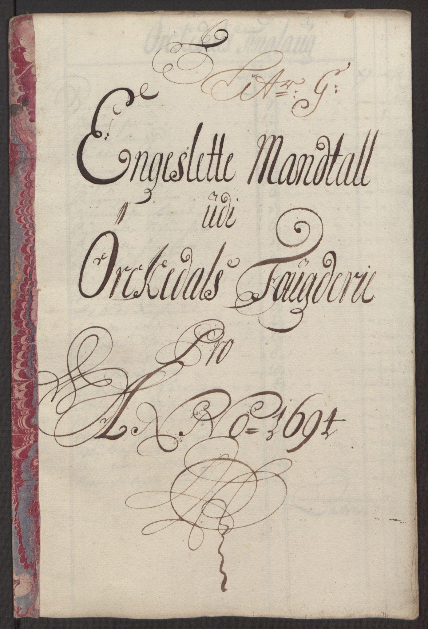 RA, Rentekammeret inntil 1814, Reviderte regnskaper, Fogderegnskap, R60/L3944: Fogderegnskap Orkdal og Gauldal, 1694, s. 98