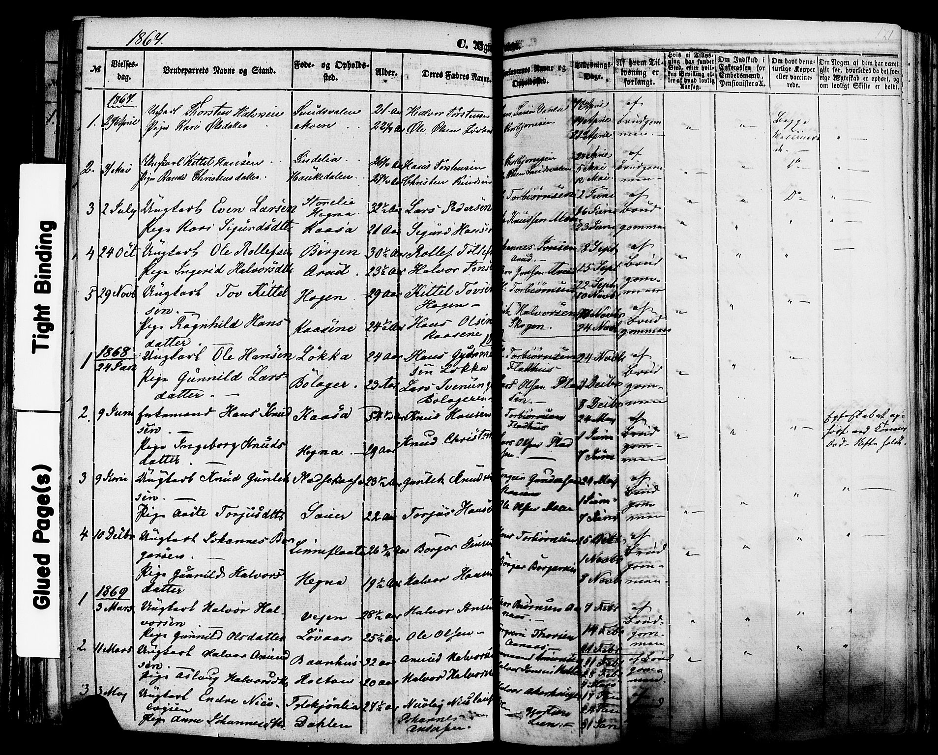 SAKO, Sauherad kirkebøker, F/Fa/L0007: Ministerialbok nr. I 7, 1851-1873, s. 171
