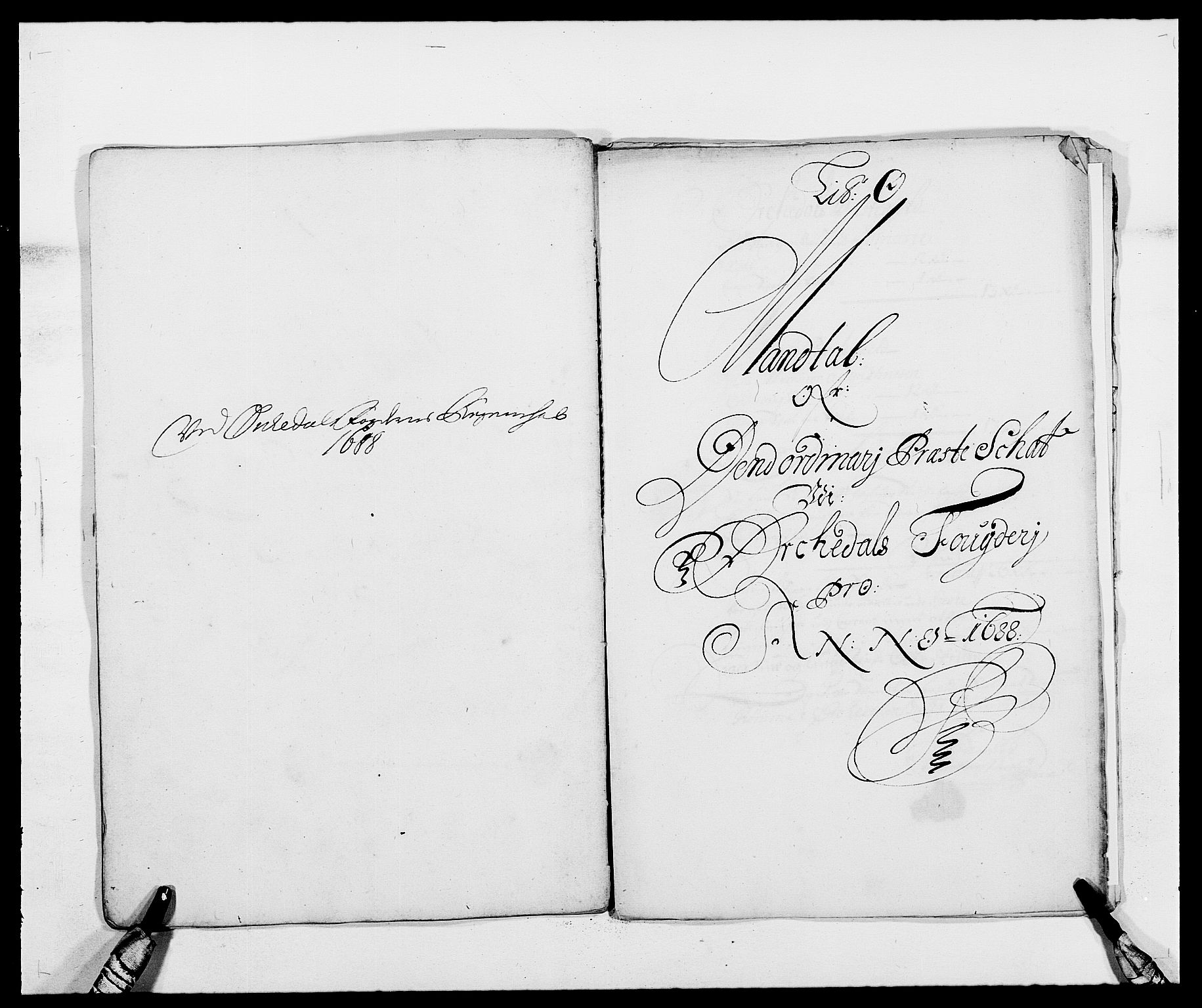 RA, Rentekammeret inntil 1814, Reviderte regnskaper, Fogderegnskap, R58/L3935: Fogderegnskap Orkdal, 1687-1688, s. 348