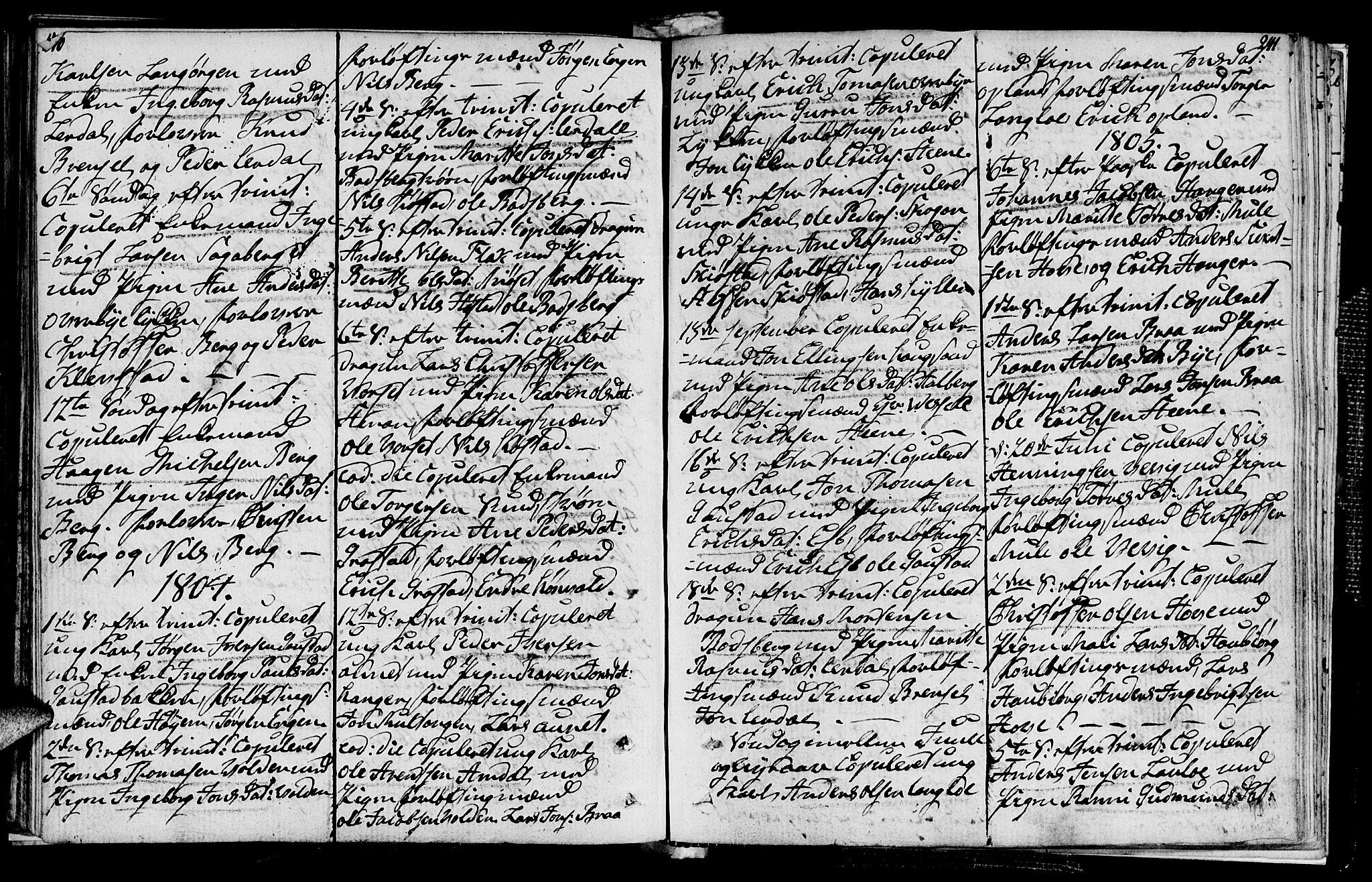 SAT, Ministerialprotokoller, klokkerbøker og fødselsregistre - Sør-Trøndelag, 612/L0371: Ministerialbok nr. 612A05, 1803-1816, s. 240-241
