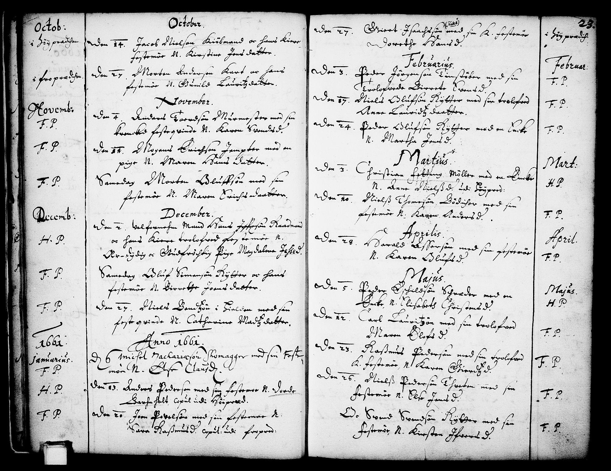 SAKO, Skien kirkebøker, F/Fa/L0001: Ministerialbok nr. 1, 1659-1679, s. 23