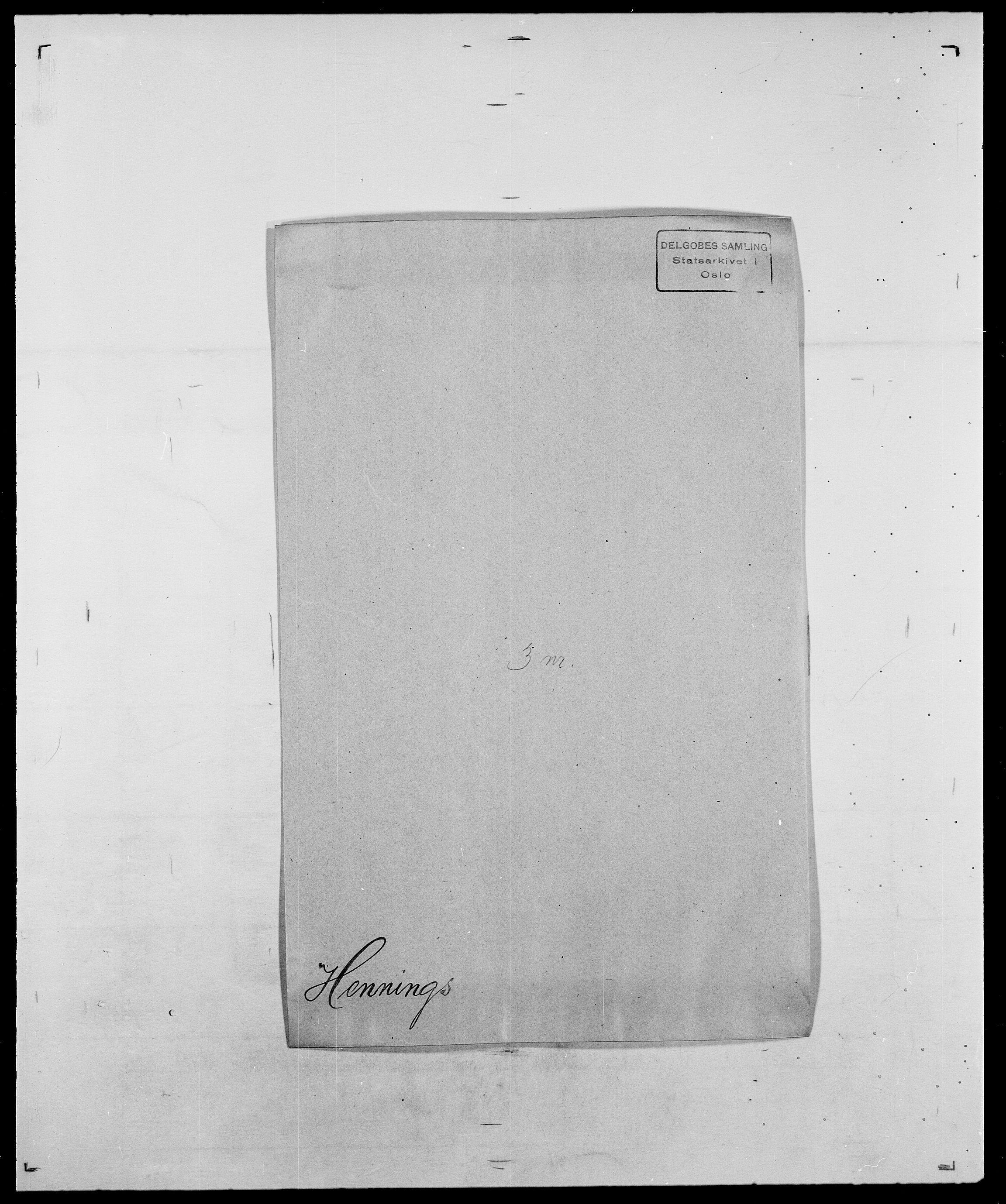 SAO, Delgobe, Charles Antoine - samling, D/Da/L0017: Helander - Hjørne, s. 186