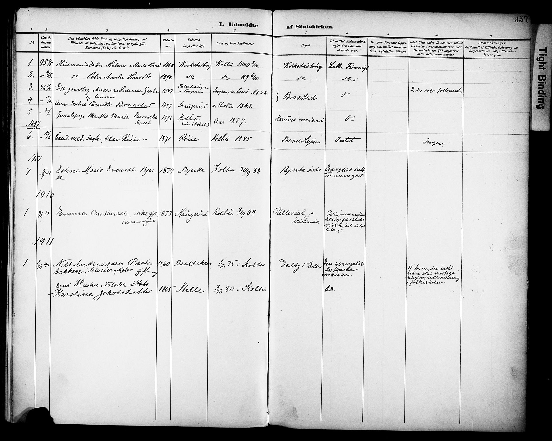 SAH, Vestre Toten prestekontor, H/Ha/Haa/L0013: Ministerialbok nr. 13, 1895-1911, s. 357