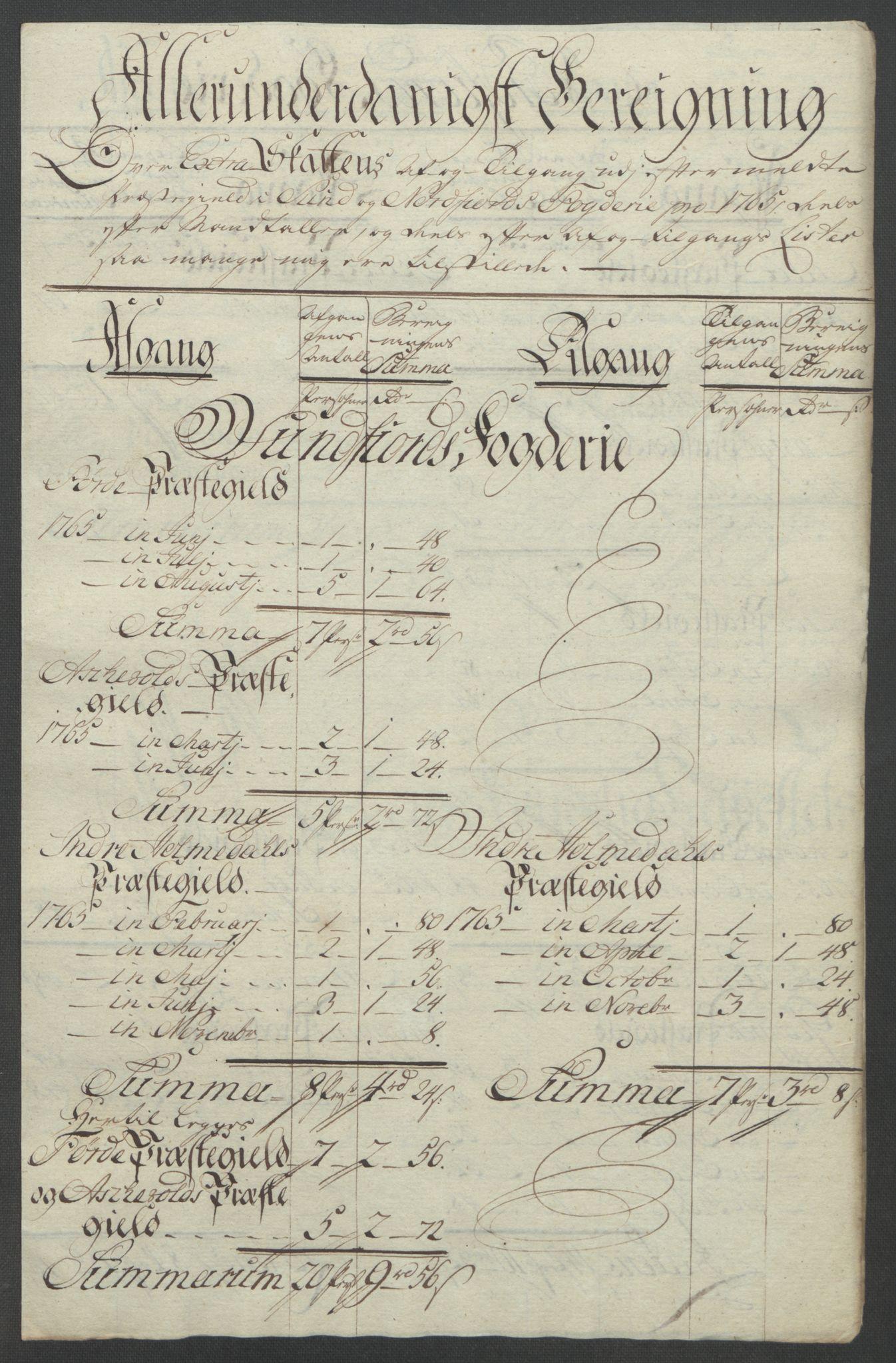 RA, Rentekammeret inntil 1814, Reviderte regnskaper, Fogderegnskap, R53/L3550: Ekstraskatten Sunn- og Nordfjord, 1762-1771, s. 149