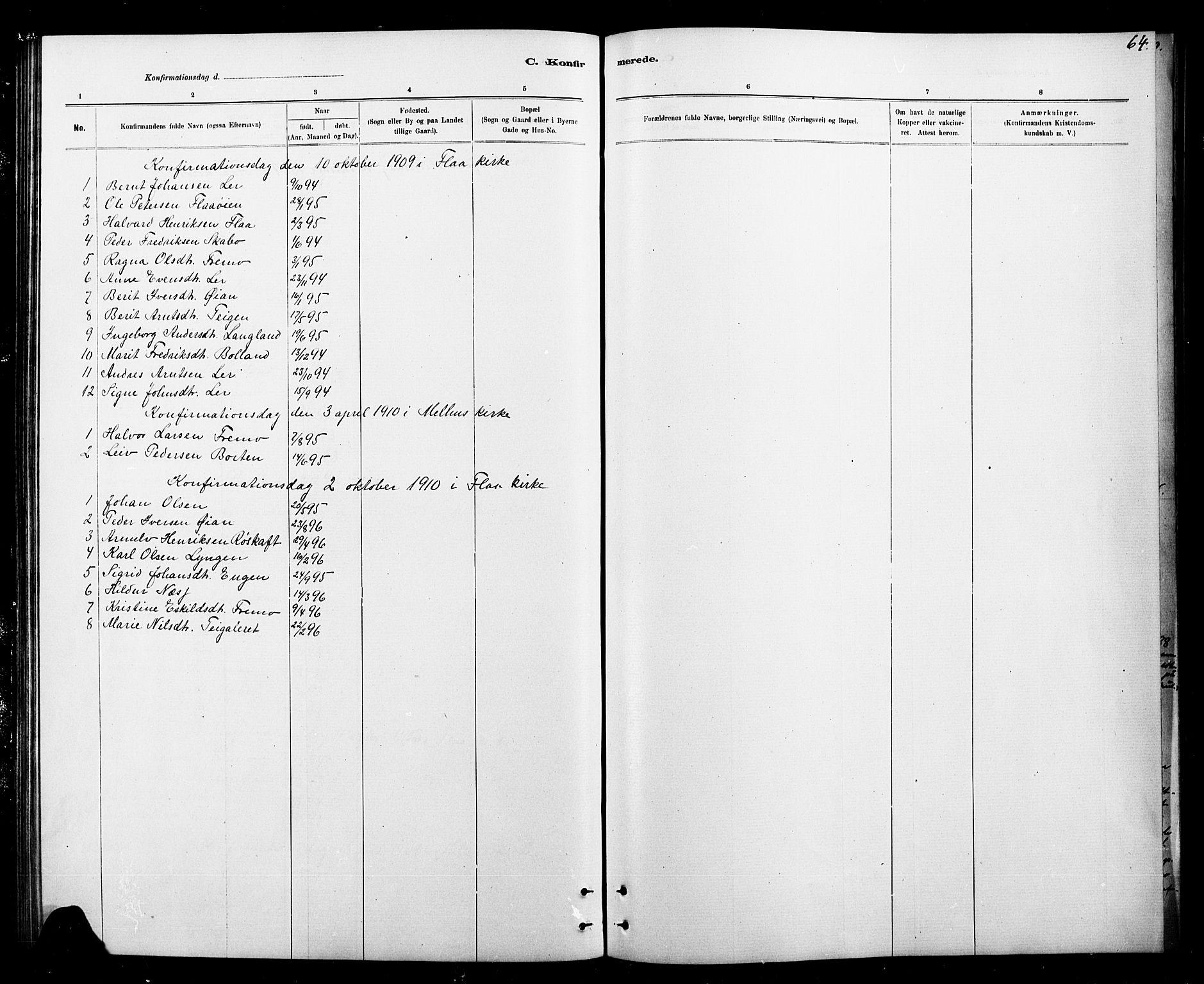 SAT, Ministerialprotokoller, klokkerbøker og fødselsregistre - Sør-Trøndelag, 693/L1123: Klokkerbok nr. 693C04, 1887-1910, s. 64