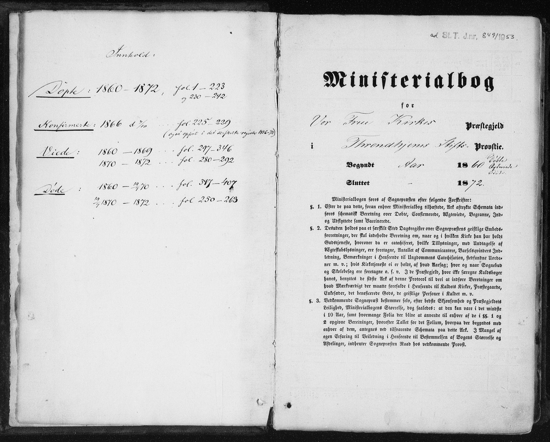 SAT, Ministerialprotokoller, klokkerbøker og fødselsregistre - Sør-Trøndelag, 602/L0115: Ministerialbok nr. 602A13, 1860-1872