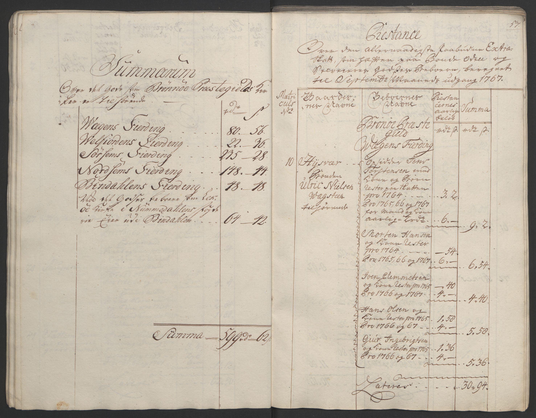 RA, Rentekammeret inntil 1814, Realistisk ordnet avdeling, Ol/L0023: [Gg 10]: Ekstraskatten, 23.09.1762. Helgeland (restanseregister), 1767-1772, s. 58