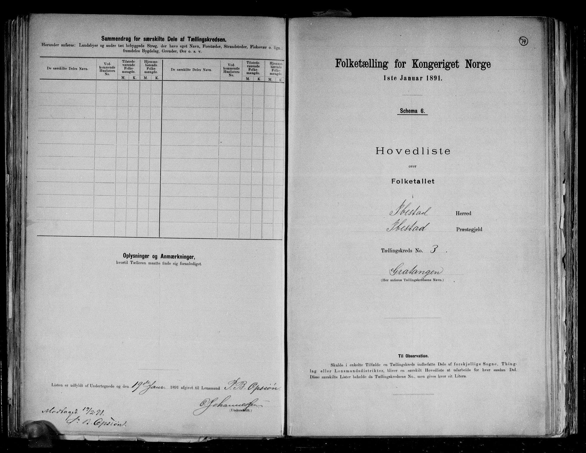 RA, Folketelling 1891 for 1917 Ibestad herred, 1891, s. 10
