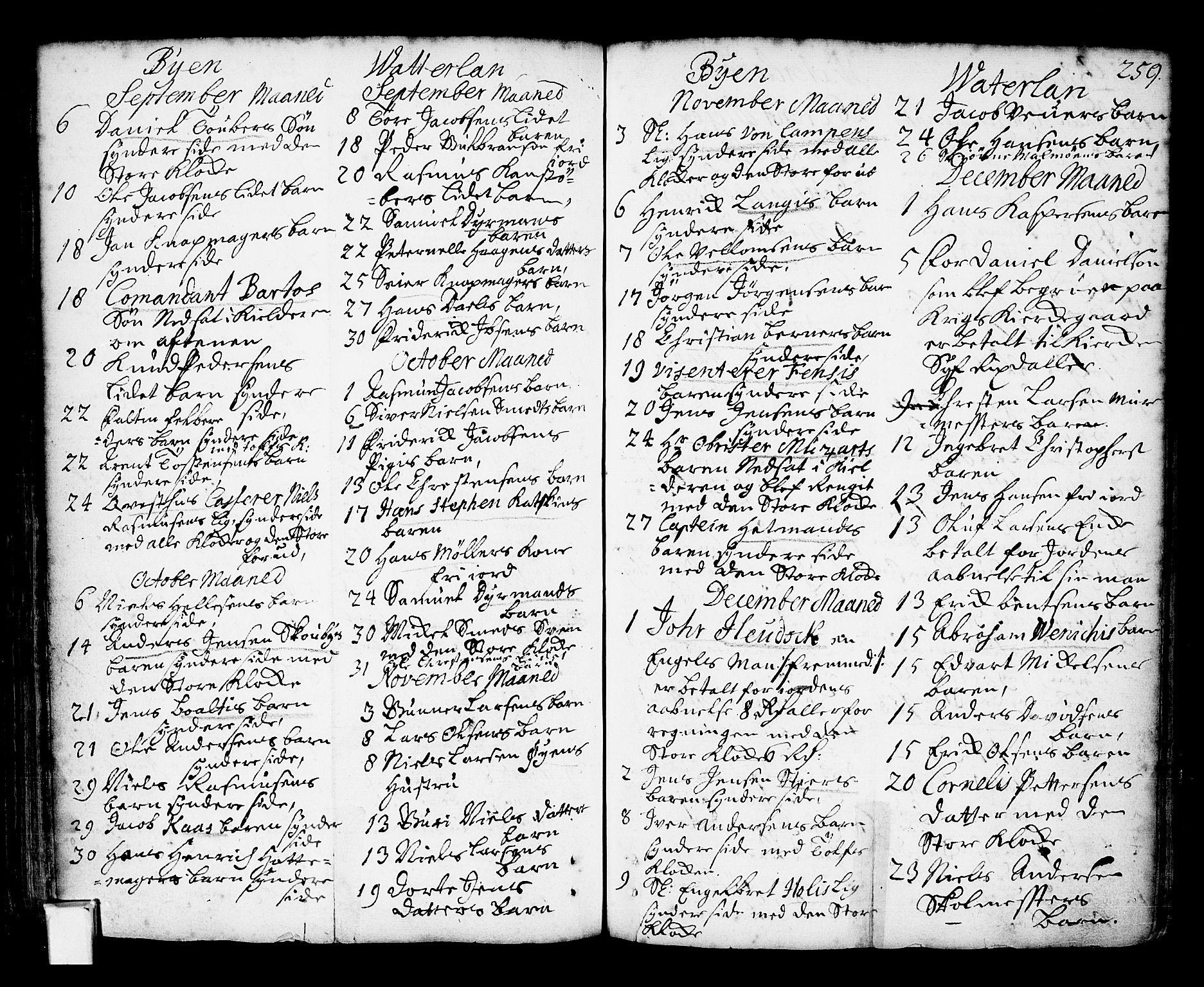 SAO, Oslo domkirke Kirkebøker, F/Fa/L0002: Ministerialbok nr. 2, 1705-1730, s. 259