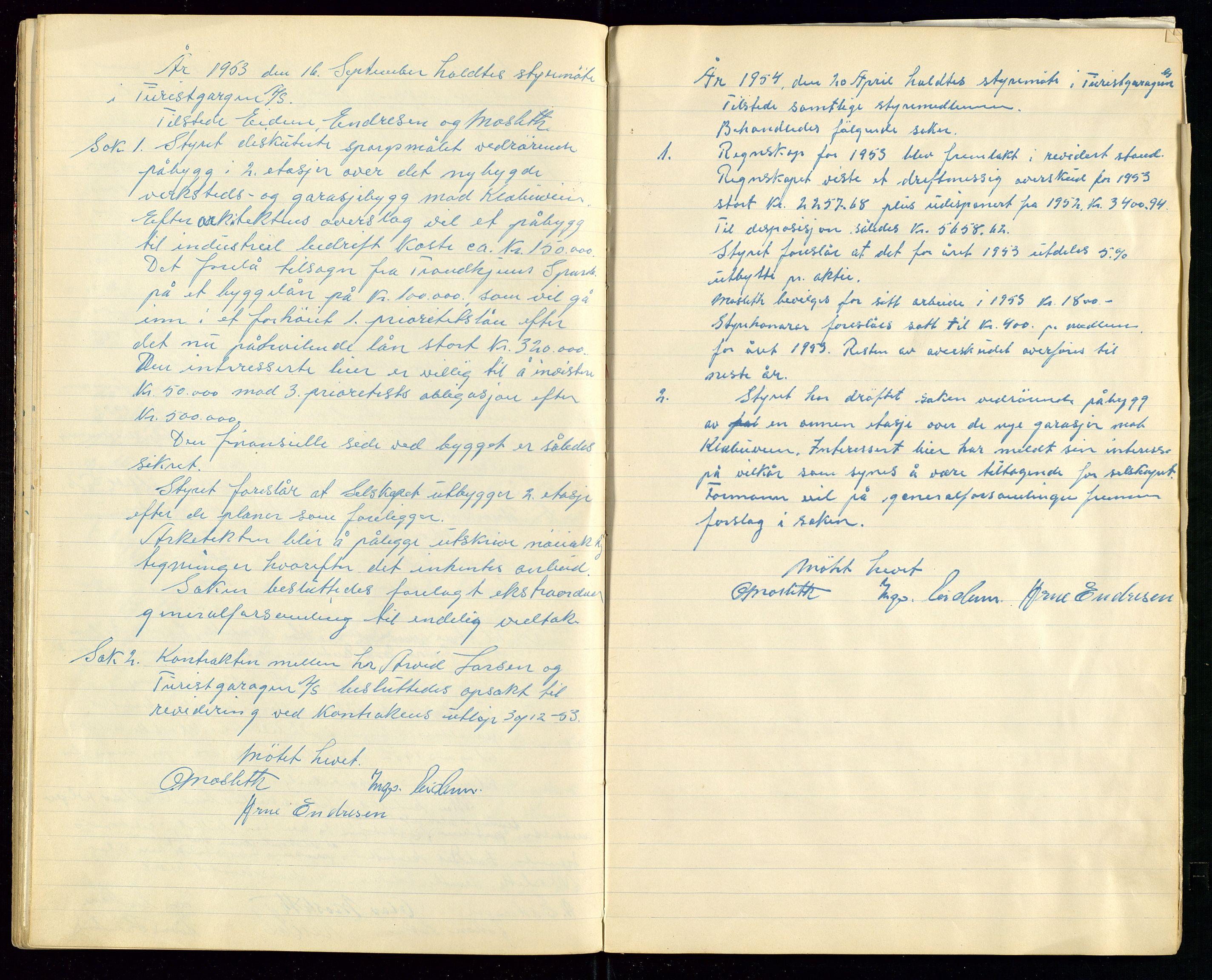SAST, PA 1515 - Turistgarasjen A/S, A/L0001: Forhandlingsprotokoll, 1937-1958, s. 32